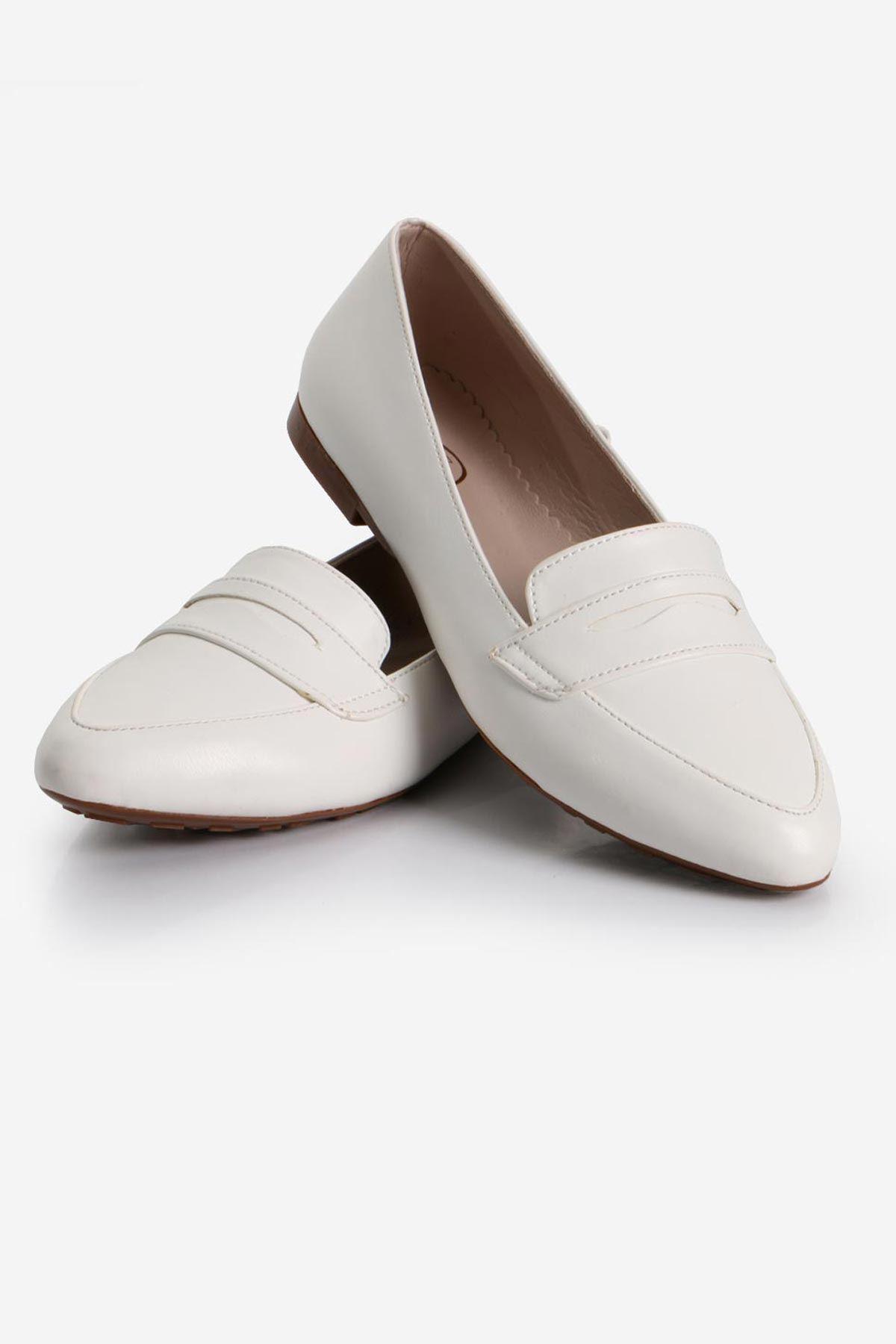 Beyaz Deri Babet