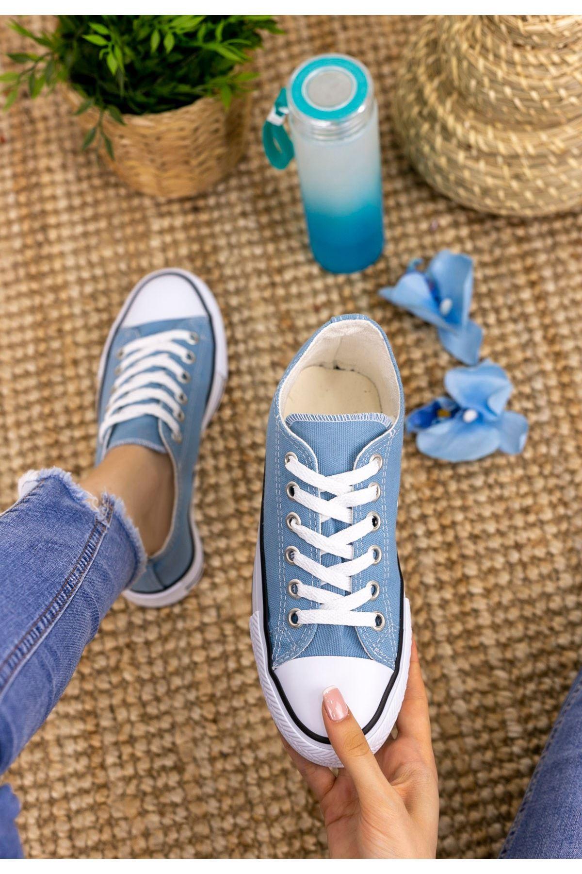 Moxi Bebe Mavisi Keten Spor Ayakkabı