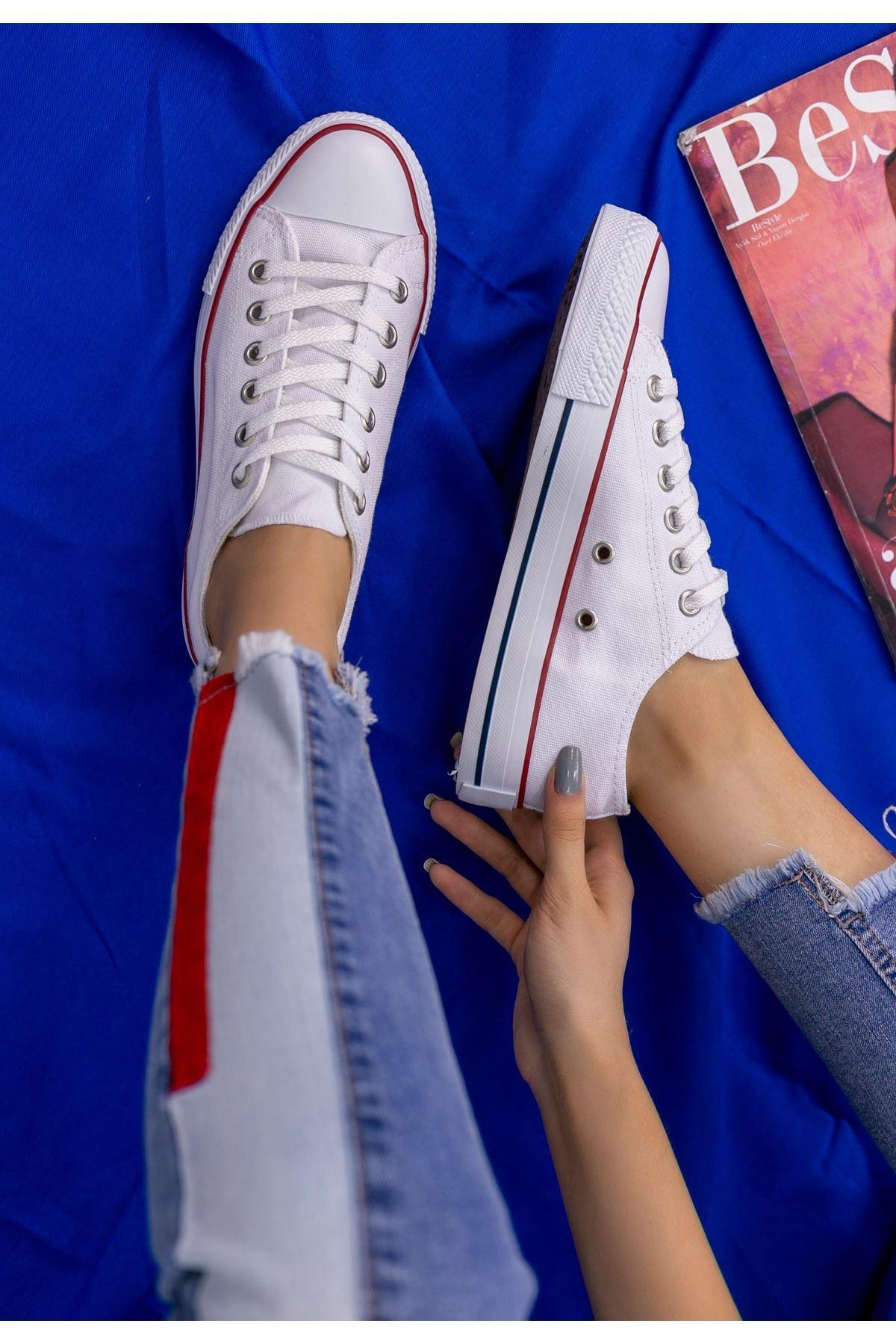 Moxi Beyaz Keten Spor Ayakkabı