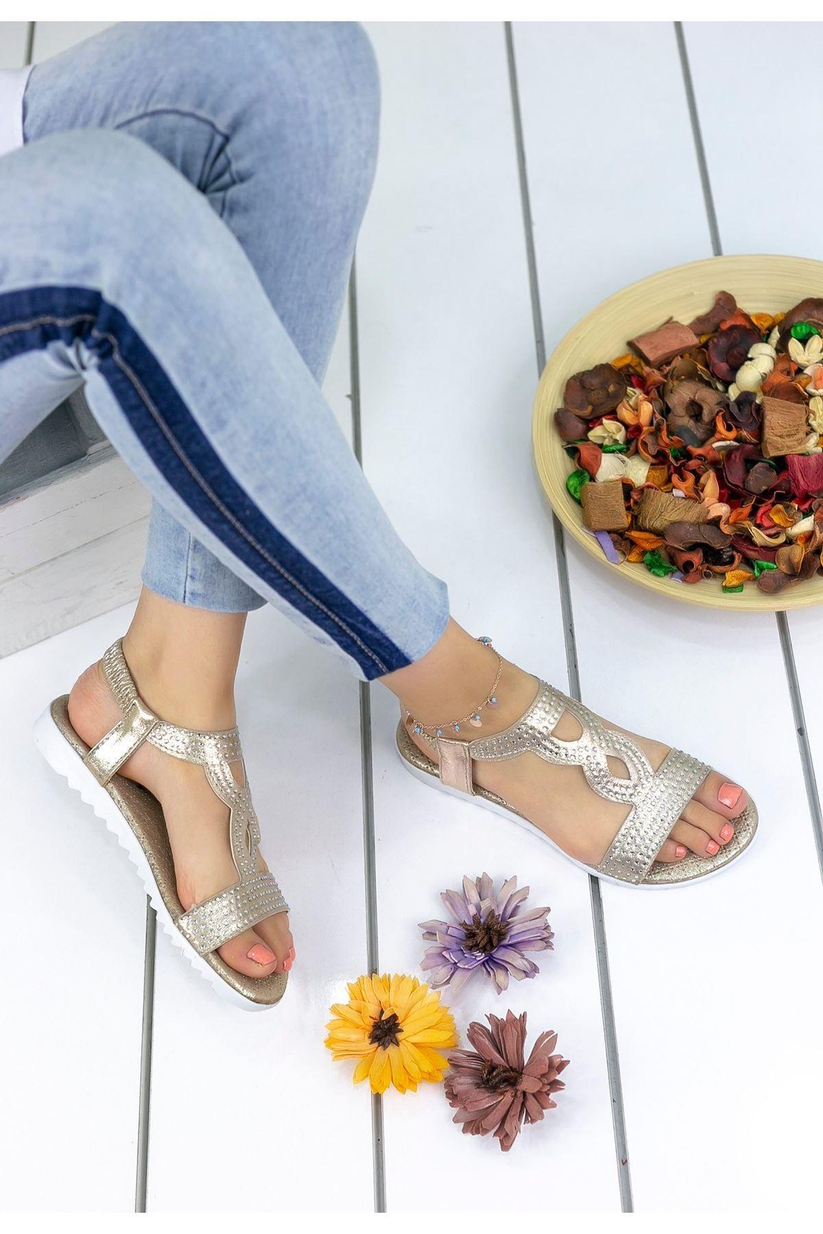 Jocelyn Altın Cilt Sandalet