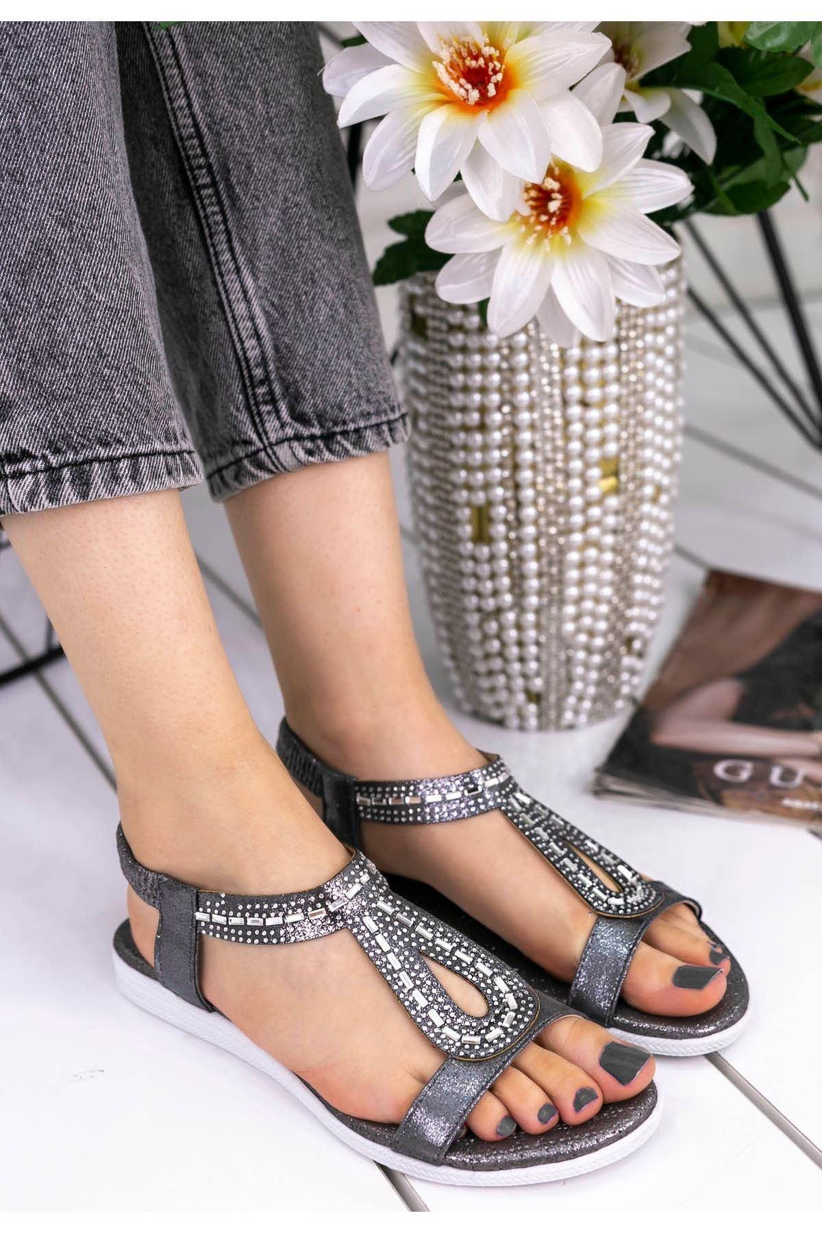 Aspey Platin Cilt Sandalet