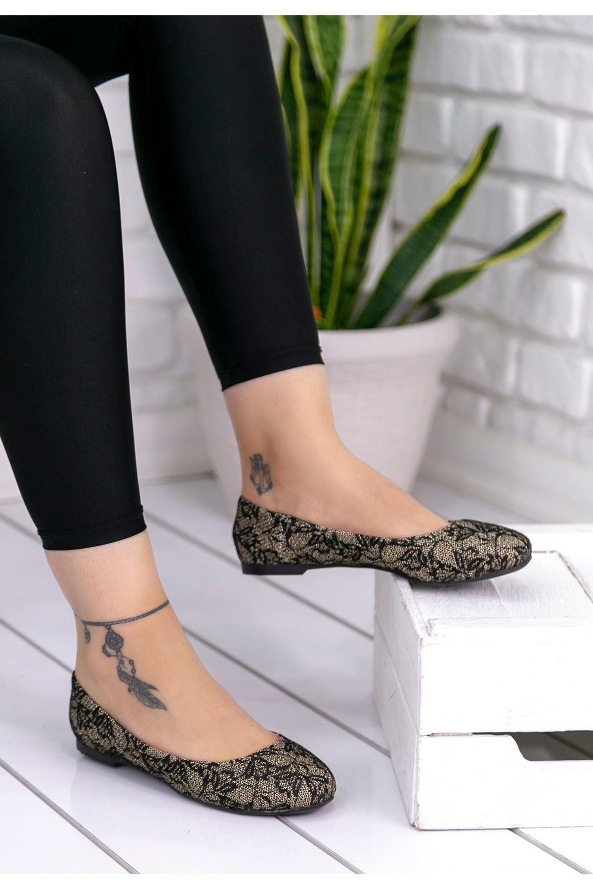 Aryana Sarı Babet Ayakkabı