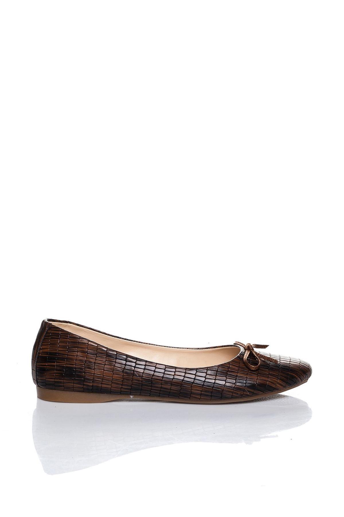 Lela Kahverengi Cilt Babet Ayakkabı