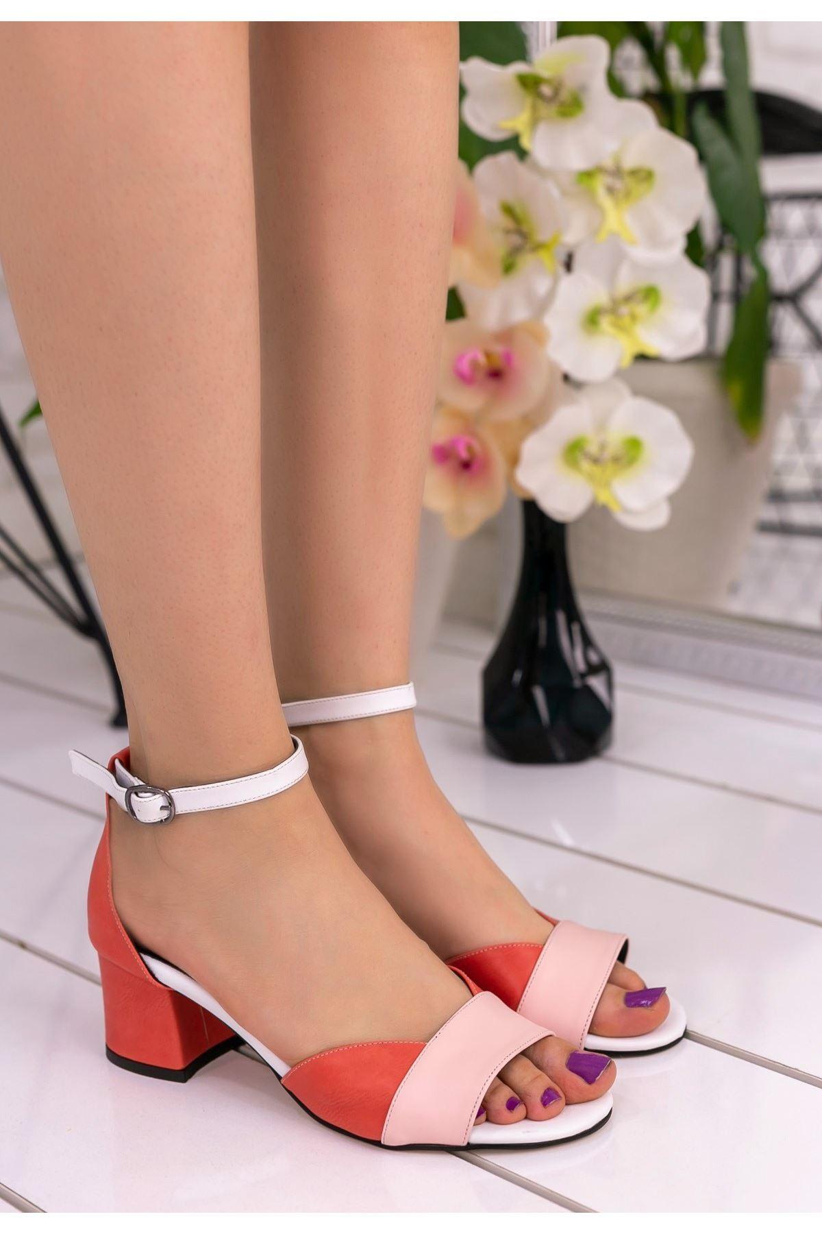 Kaina Pudra Cilt Renkli Topuklu Ayakkabı