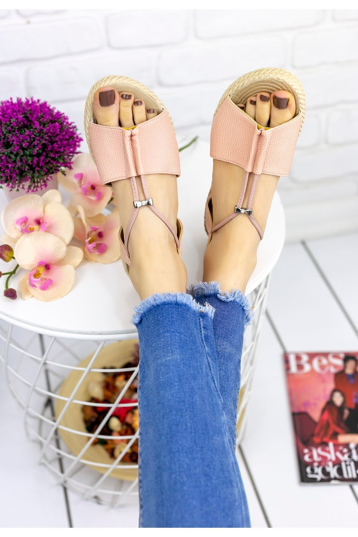Emily Pudra Cilt Sandalet