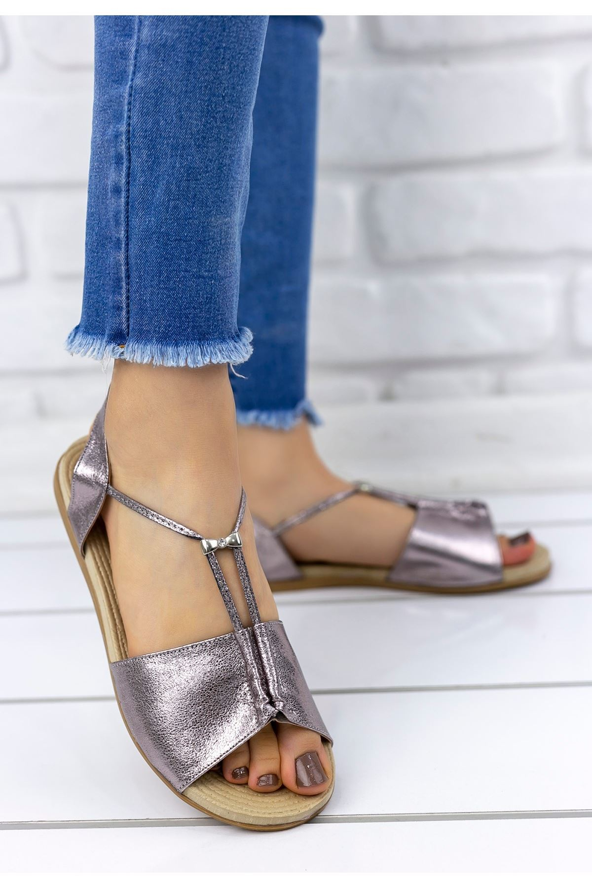 Marina Platin Sandalet