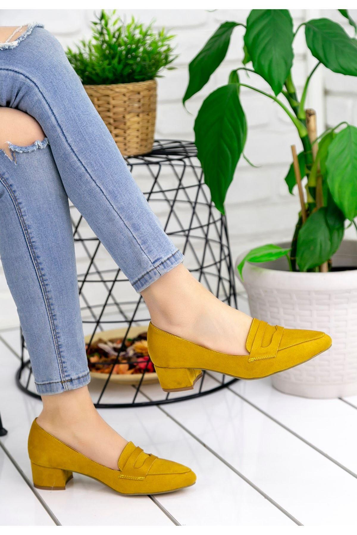 Reyna Hardal Süet Topuklu Ayakkabı