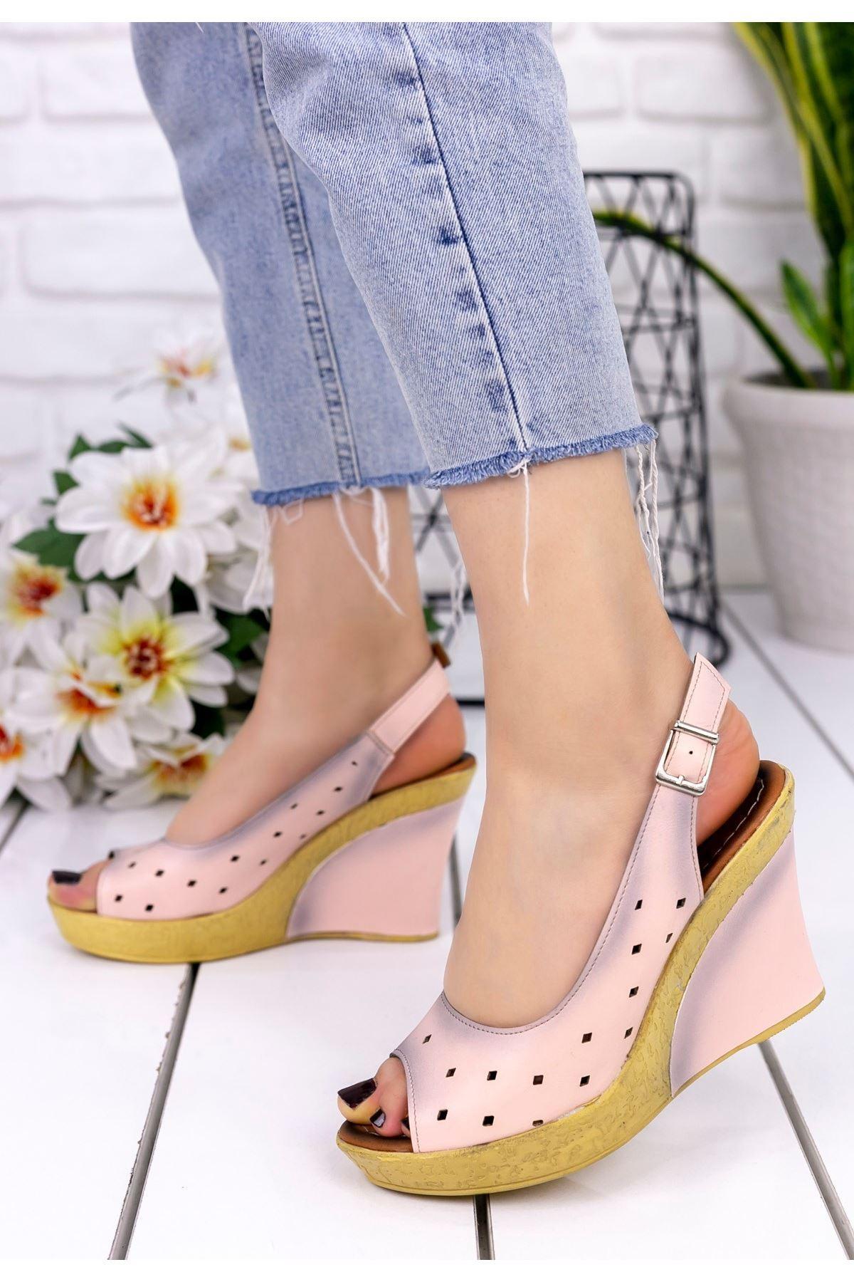 Martina Pudra Cilt Dolgu Topuk Ayakkabı