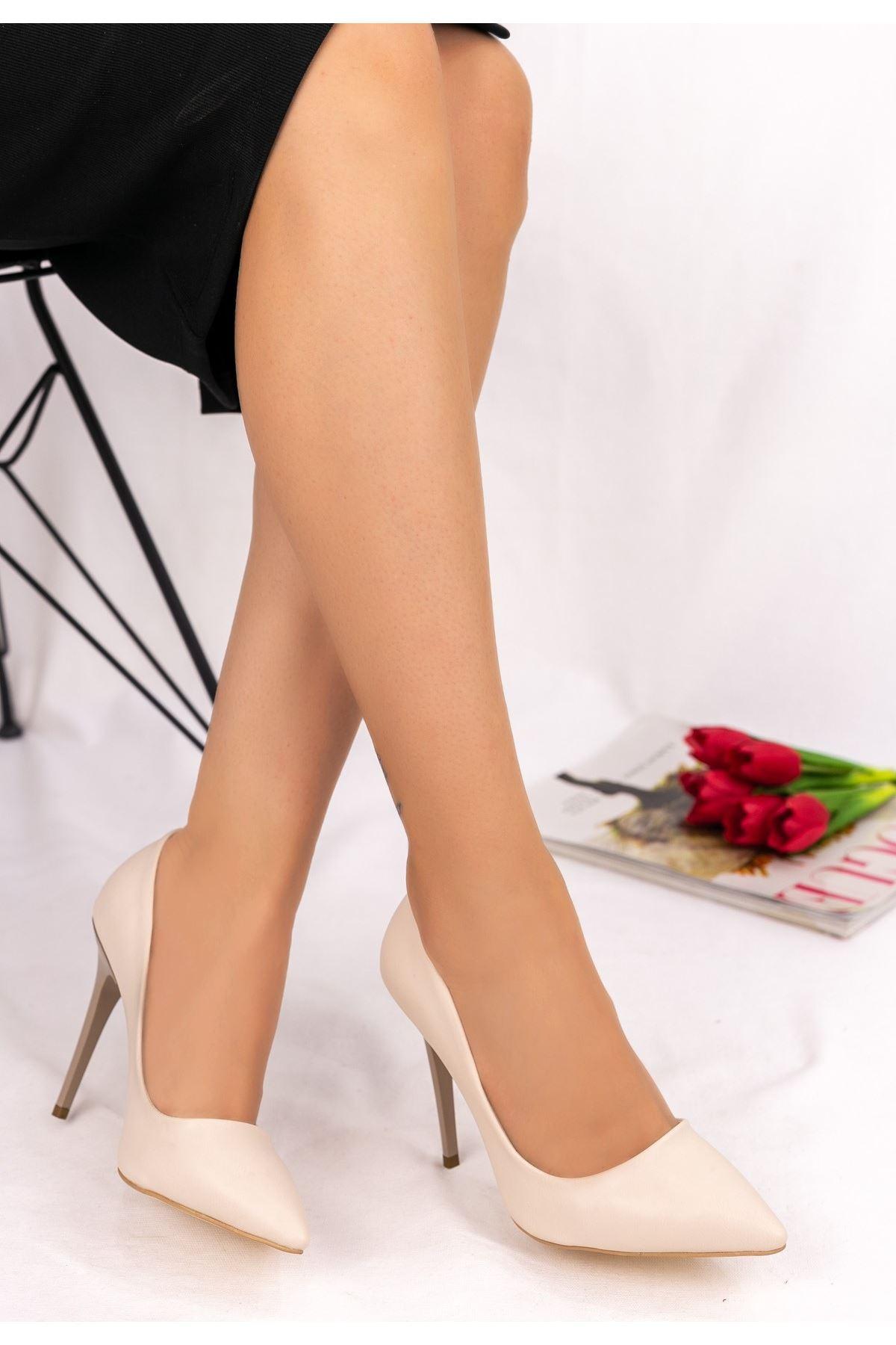Muad Ten Cilt Stiletto Ayakkabı