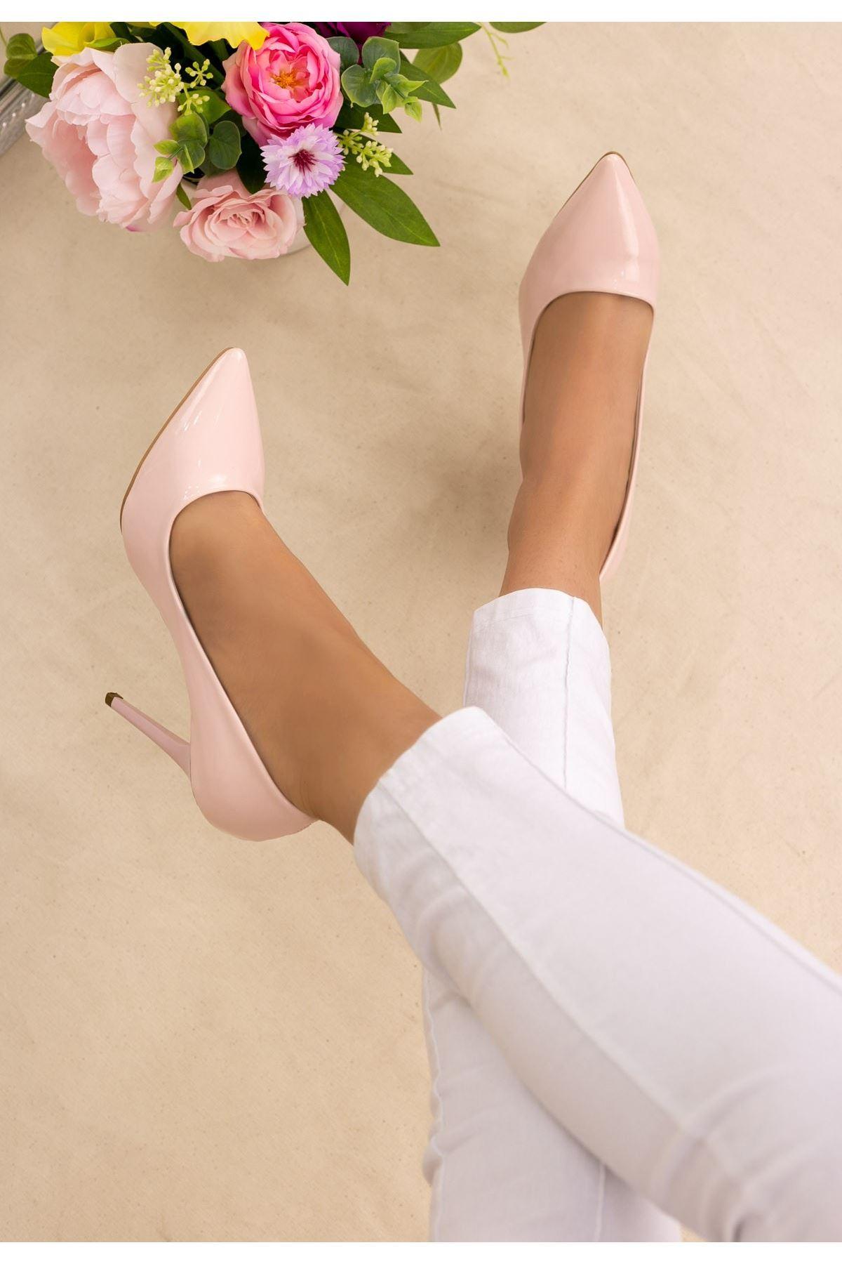 Muad Pudra Rugan Stiletto Ayakkabı