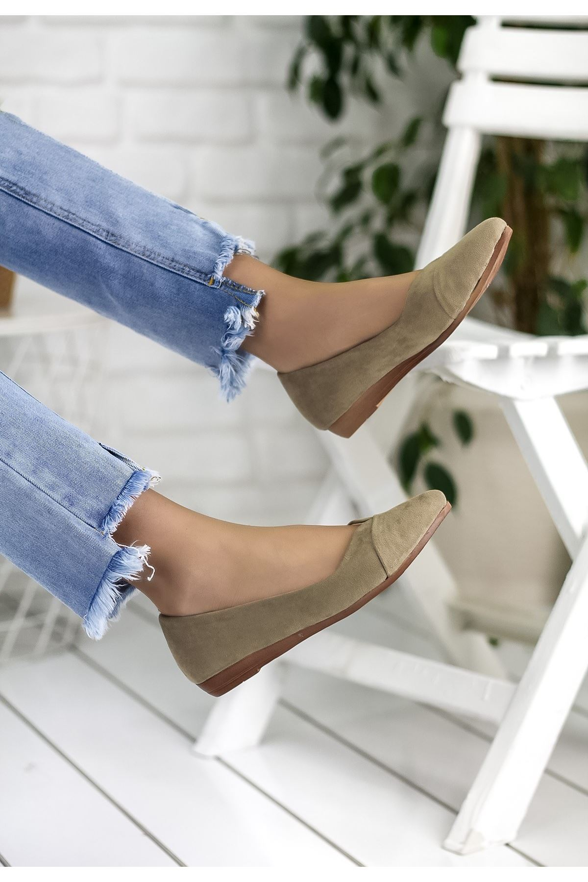 Silvestra Vizon Süet Babet Ayakkabı