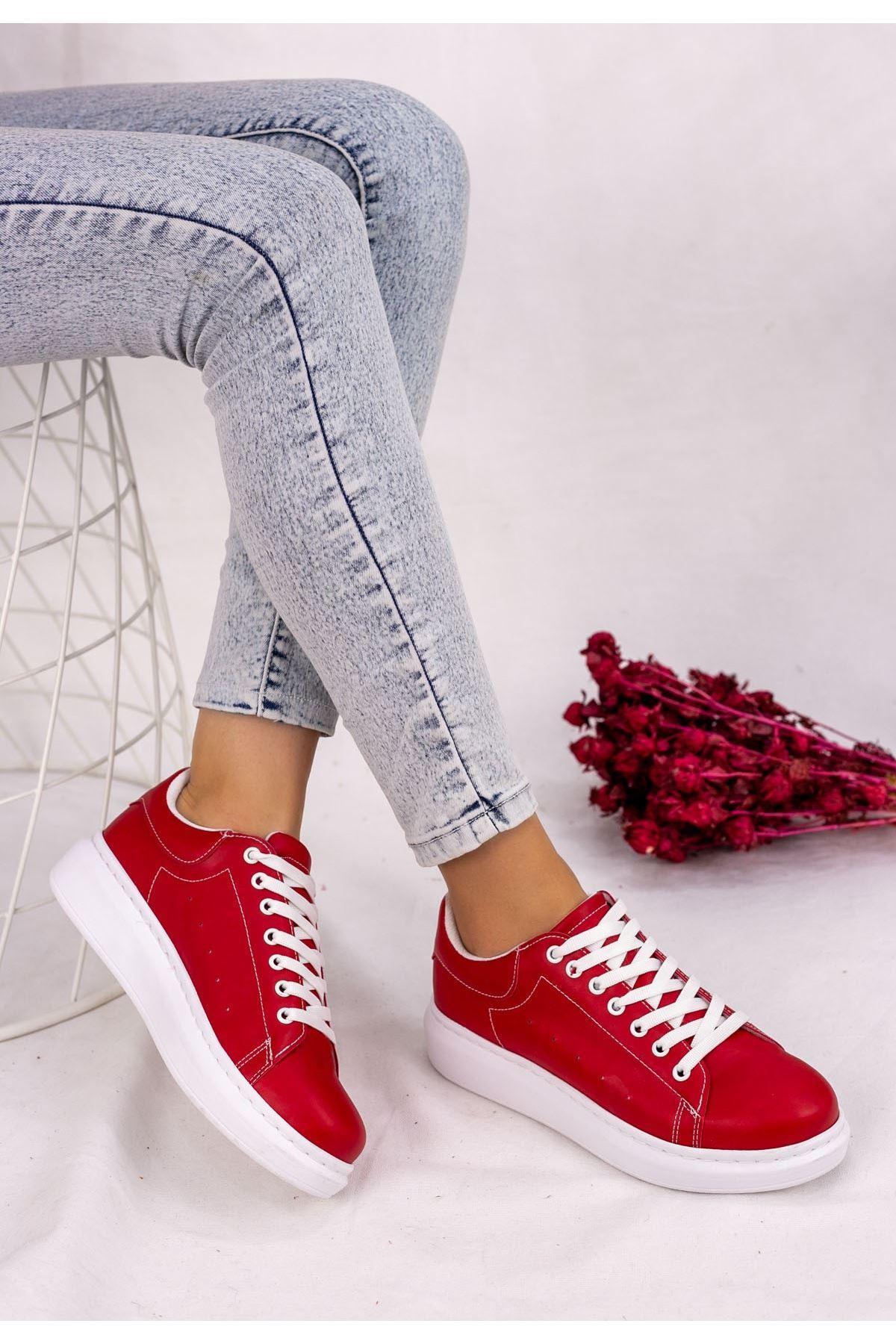 Neomix Kırmızı Cilt Spor Ayakkabı