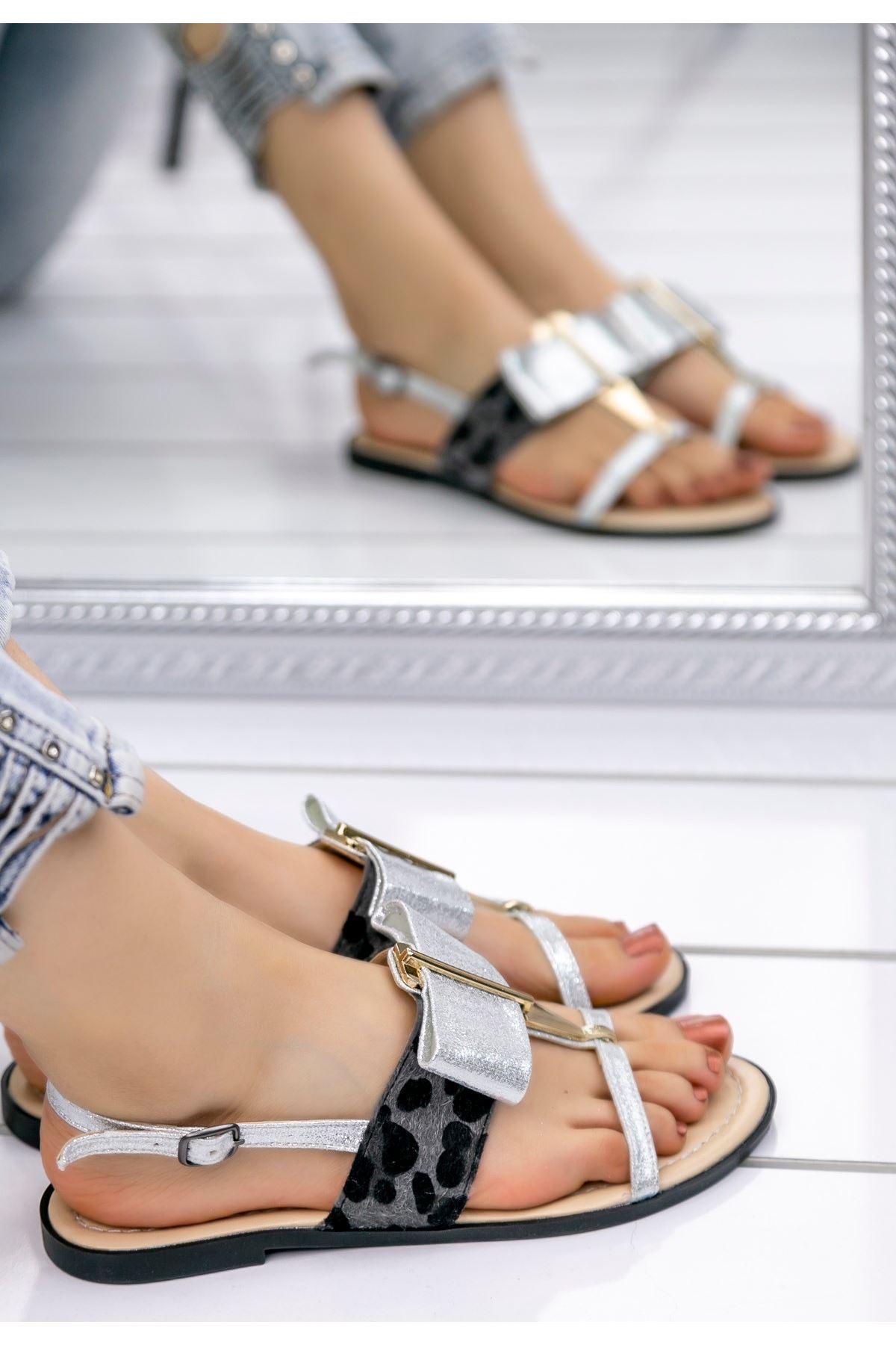 Melba Gümüş Cilt Sandalet