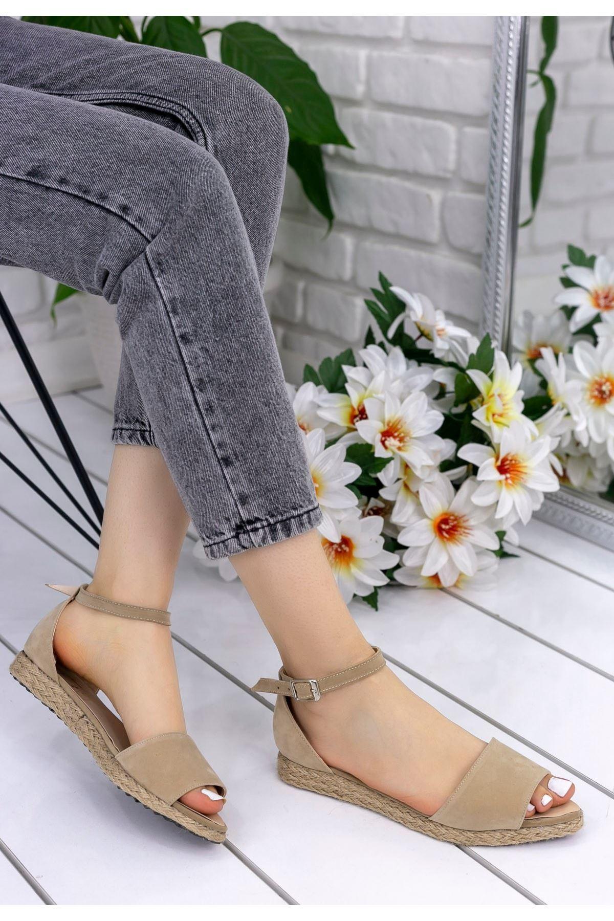 Zanra Vizon Süet Sandalet