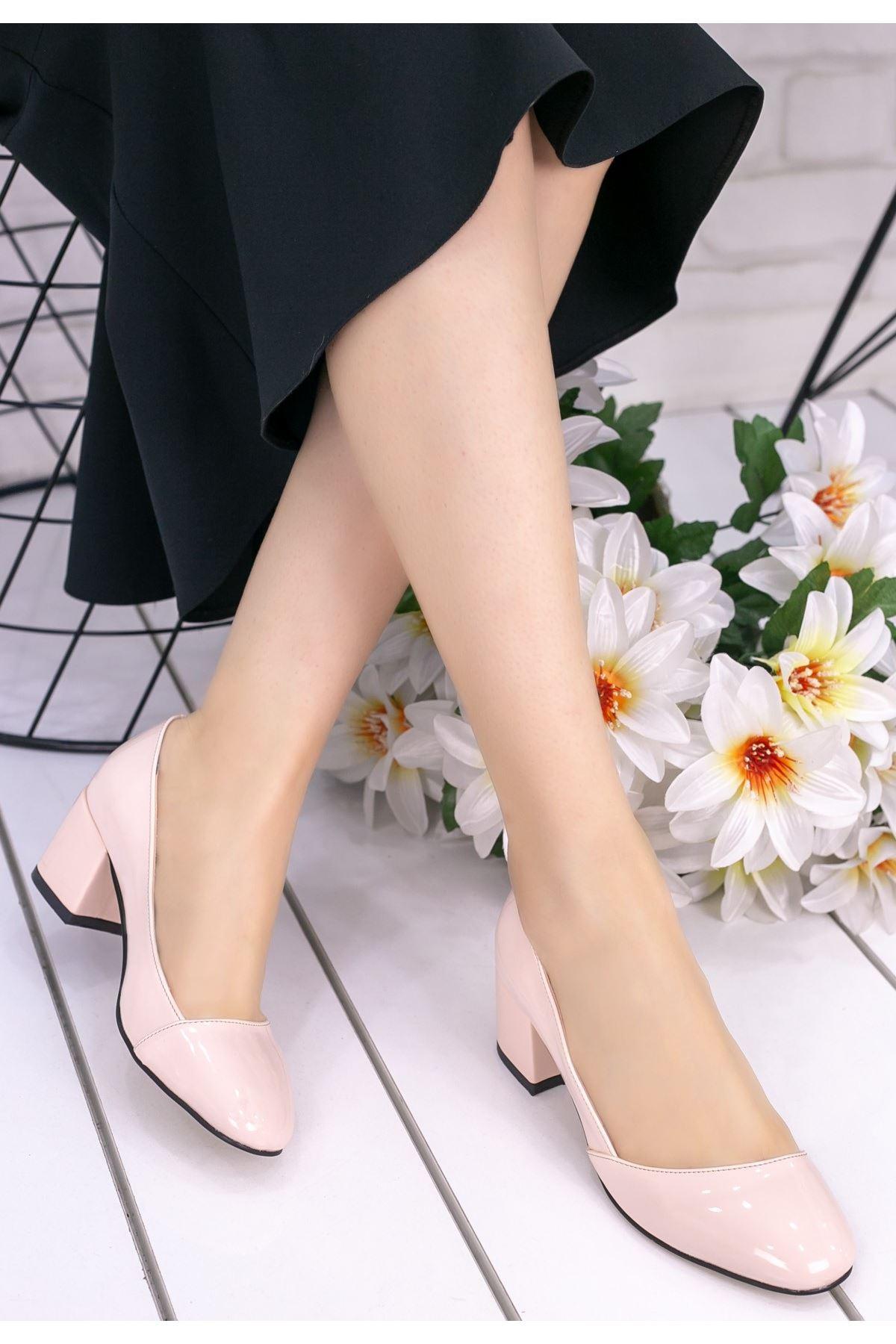 Jemima Pudra Rugan Topuklu Ayakkabı