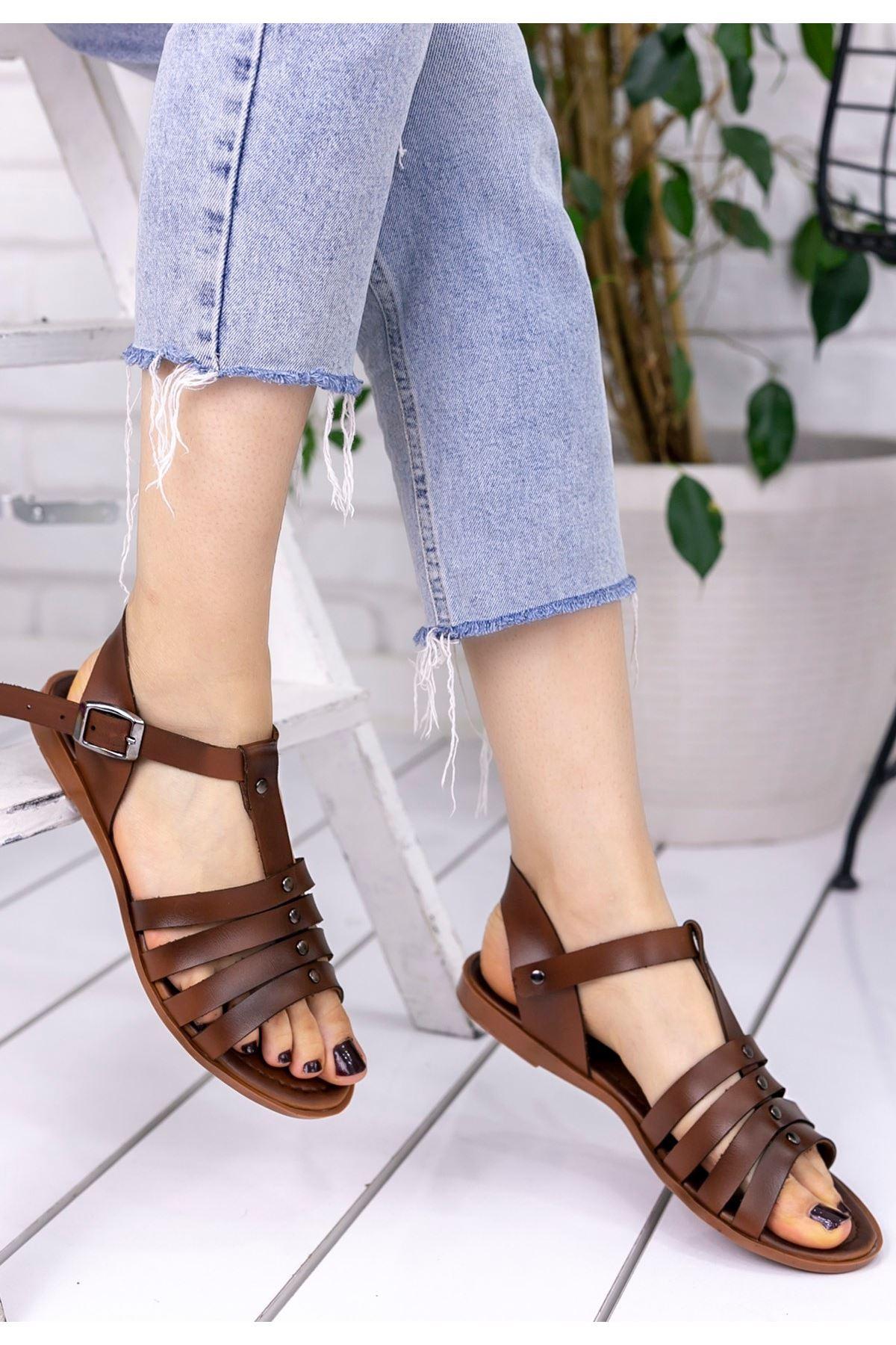 Wanda Taba Cilt Sandalet