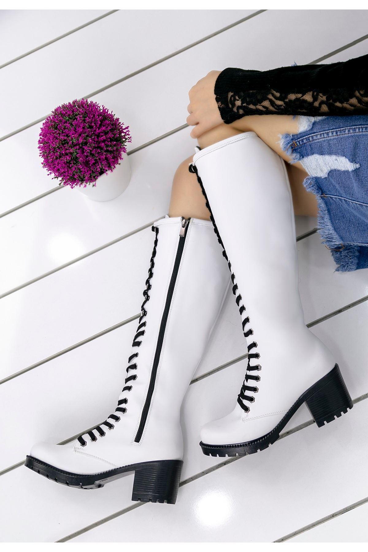 Robina Beyaz Cilt Çizme