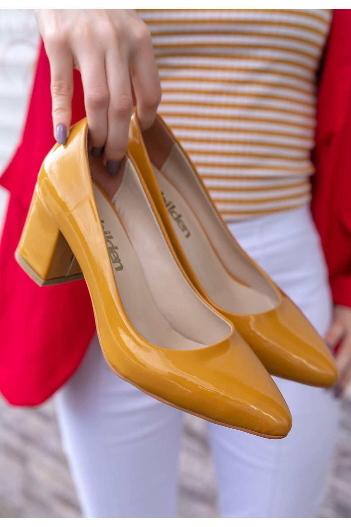 Lehisa Hardal Rugan Topuklu Ayakkabı