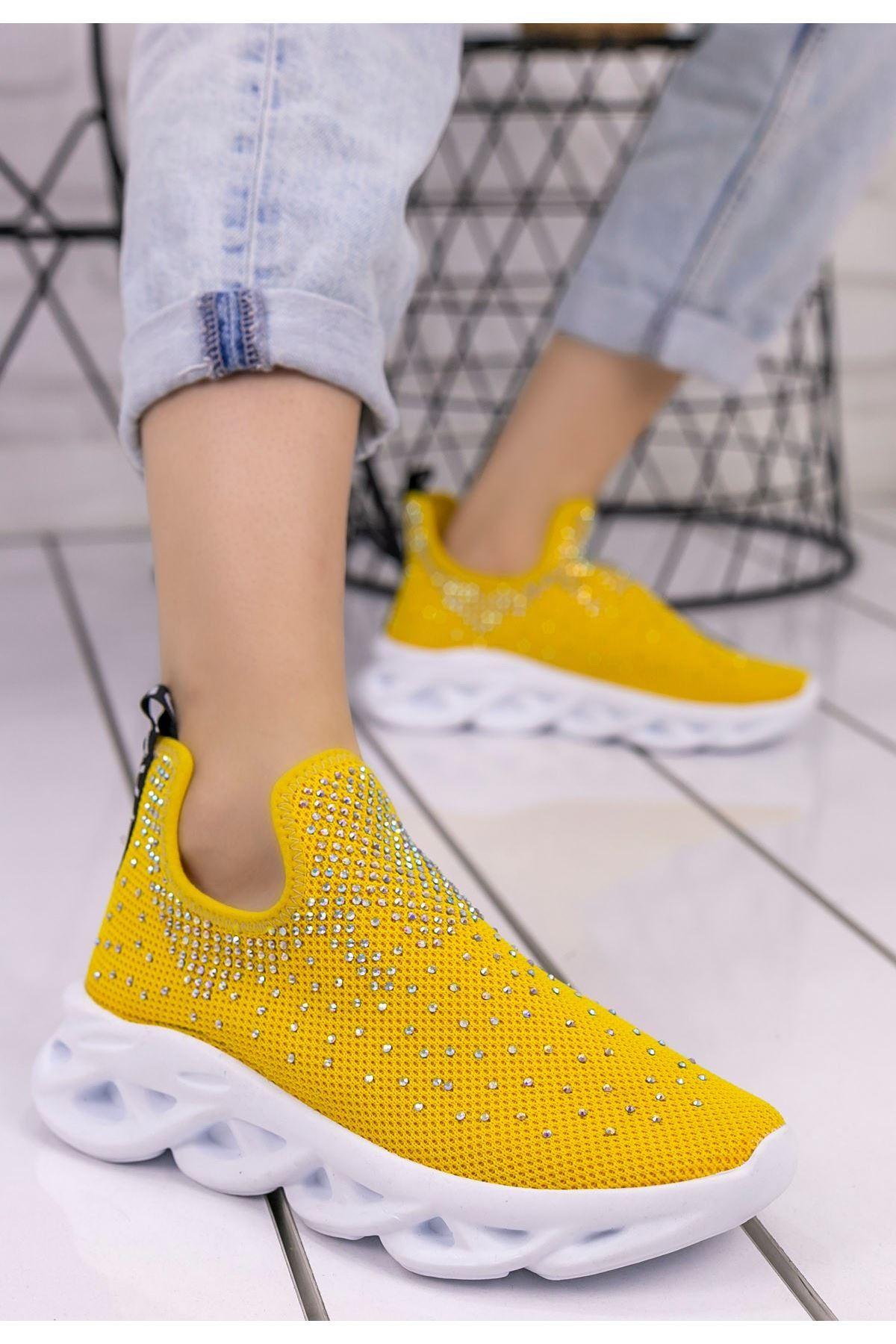Patsy Sarı Boncuklu Spor Ayakkabı