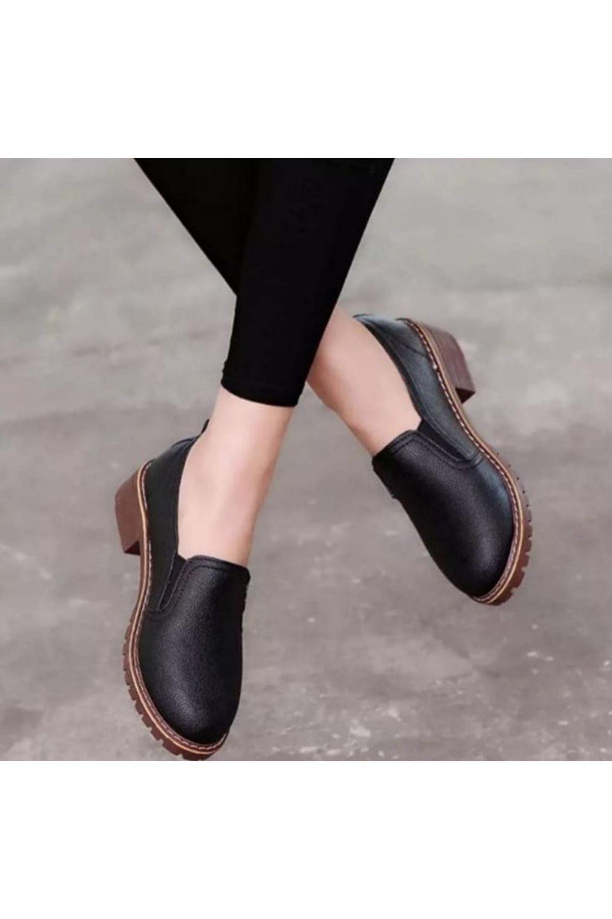 Paradise Siyah Cilt Ayakkabı