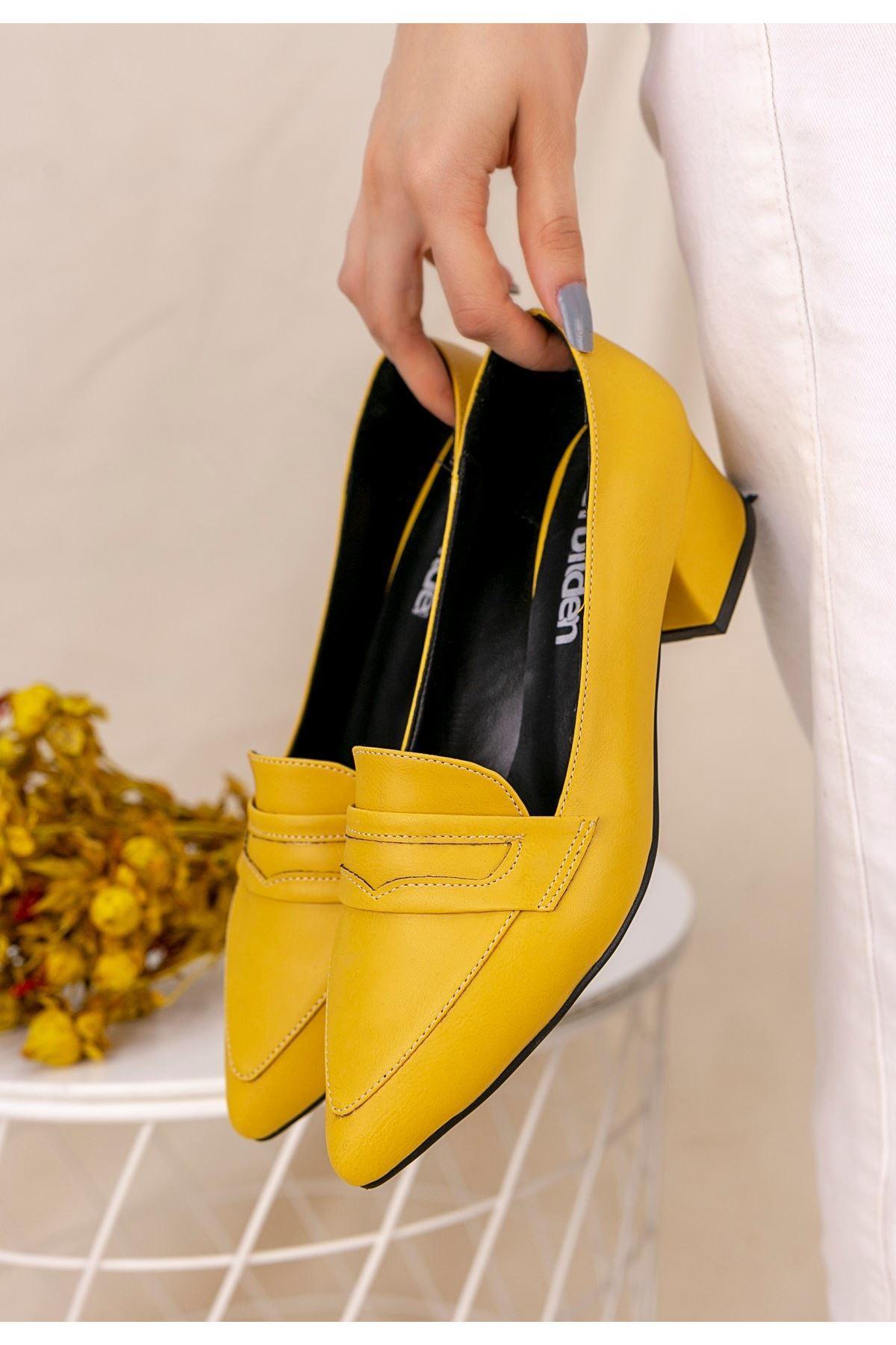 Reyna Hardal Cilt Topuklu Ayakkabı