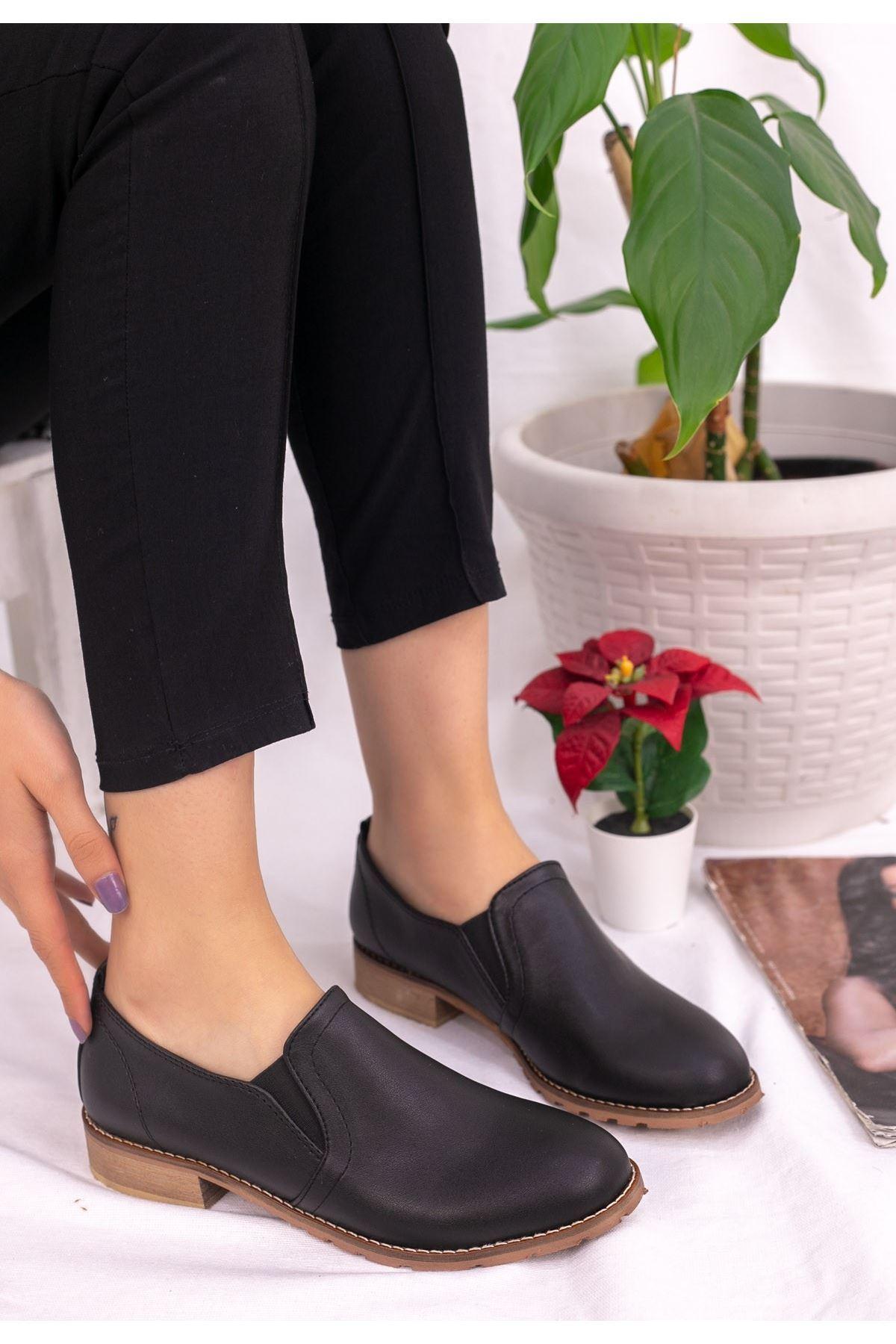 Mary Siyah Cilt Ayakkabı