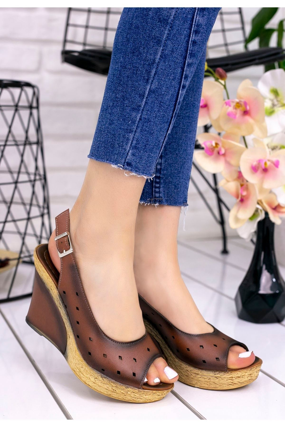 Martina Taba Cilt Dolgu Topuklu Ayakkabı