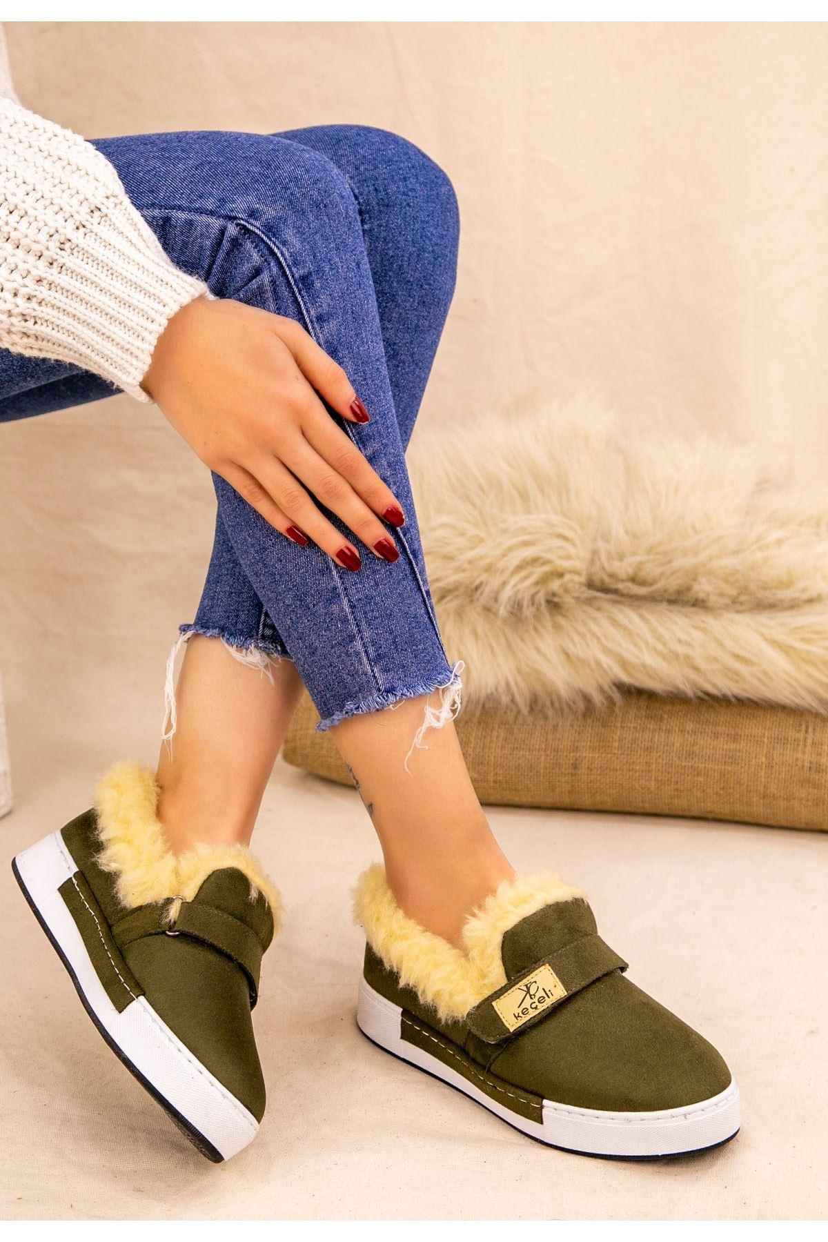 Rion Haki Yeşil Süer Babet Ayakkabı