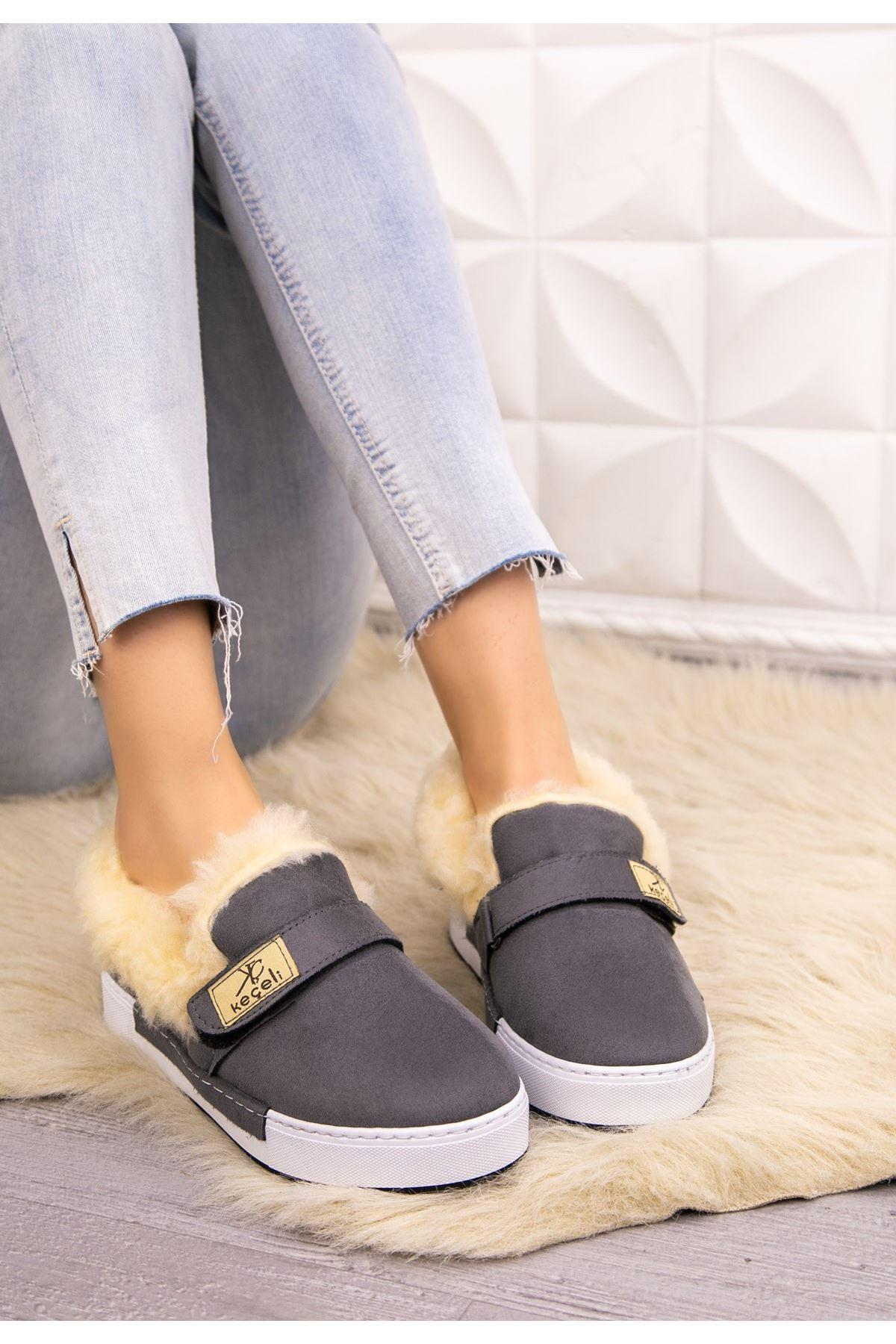 Rion Gri Süer Babet Ayakkabı