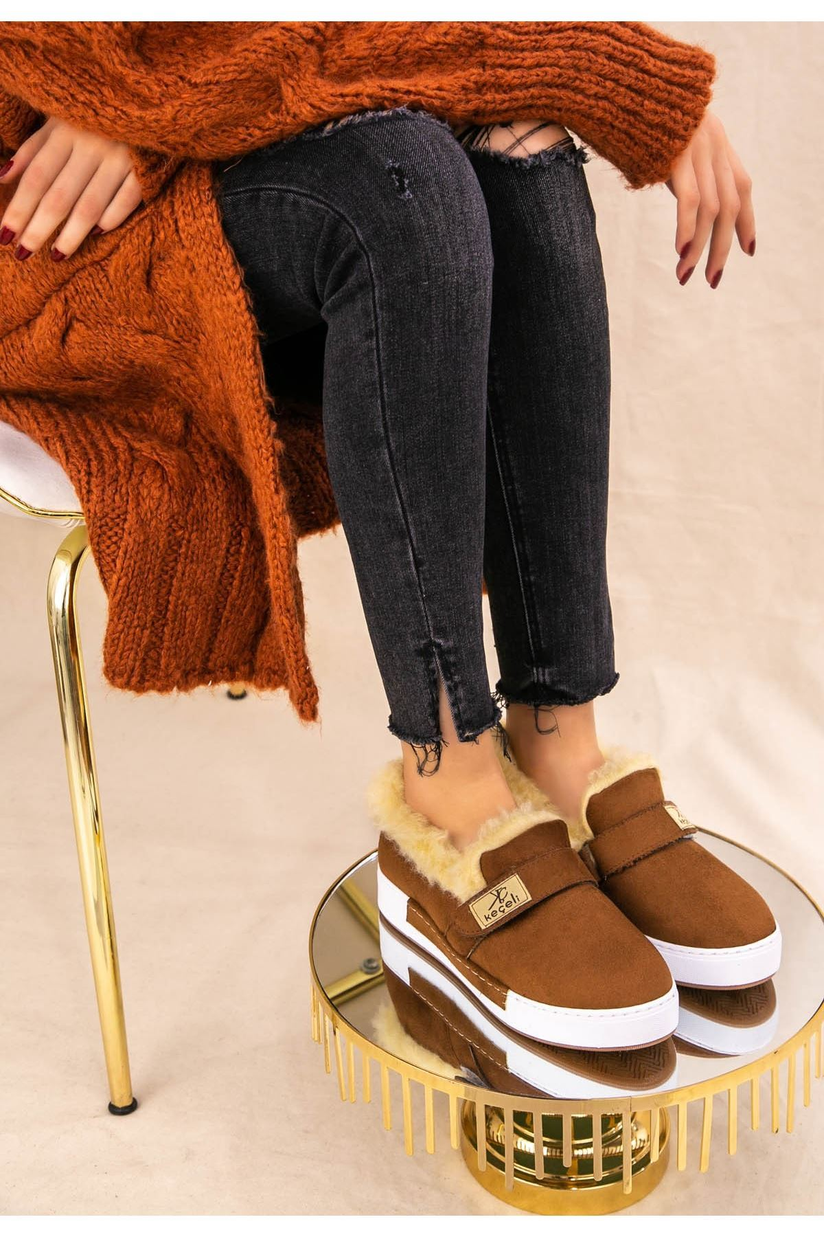 Rion Taba Süet Babet Ayakkabı