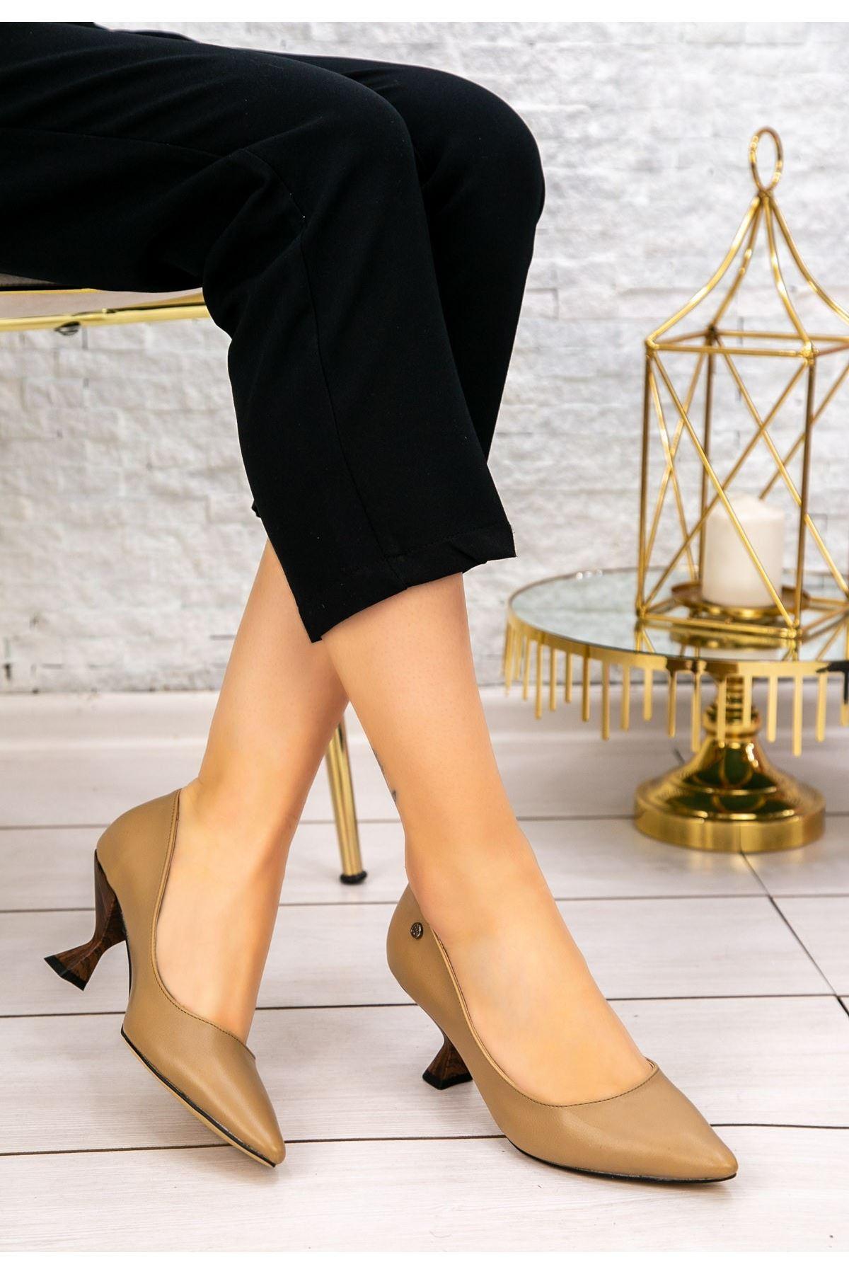 Goly Vizon Cilt Topuklu Ayakkabı