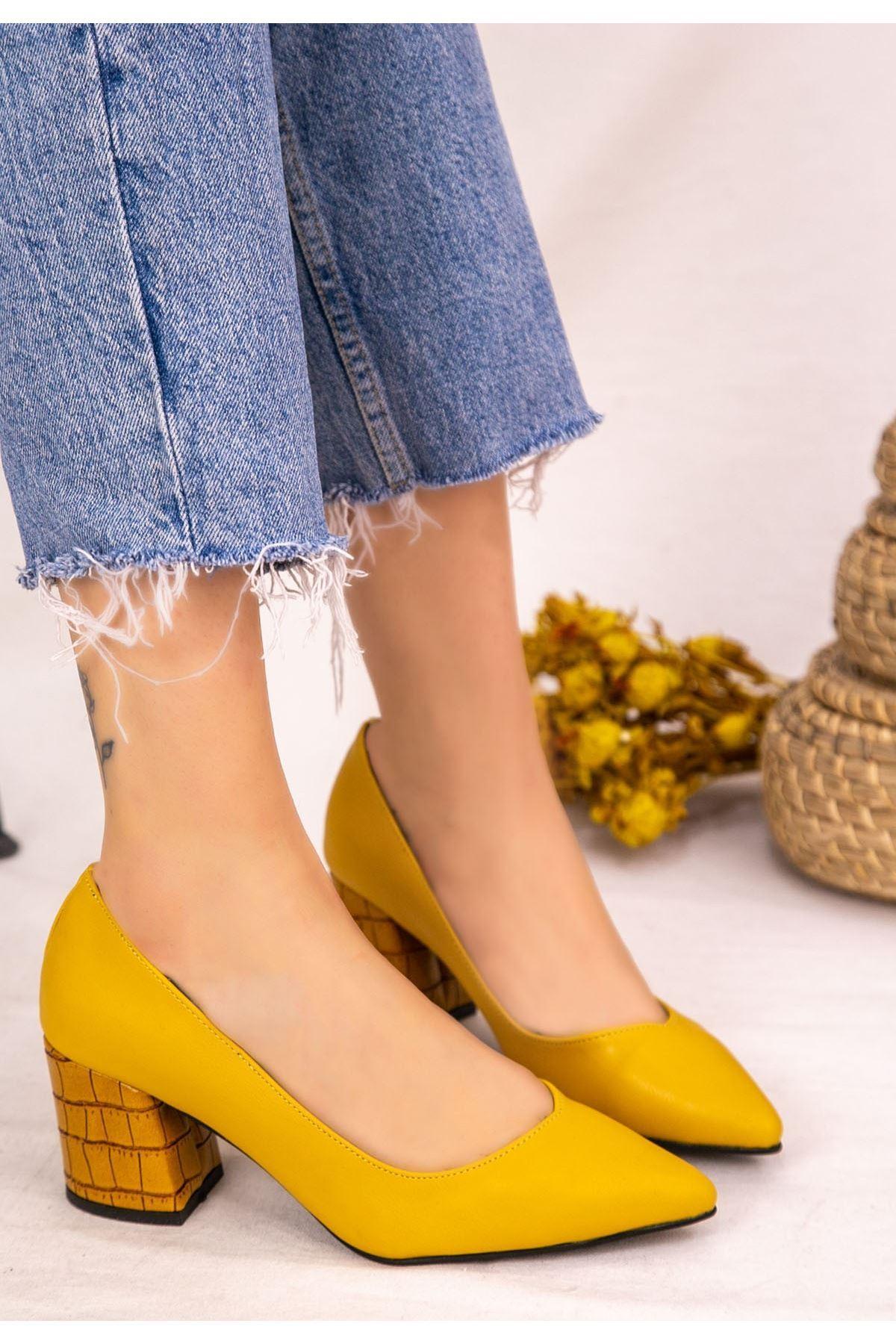 Dilla Hardal Cilt Topuklu Ayakkabı