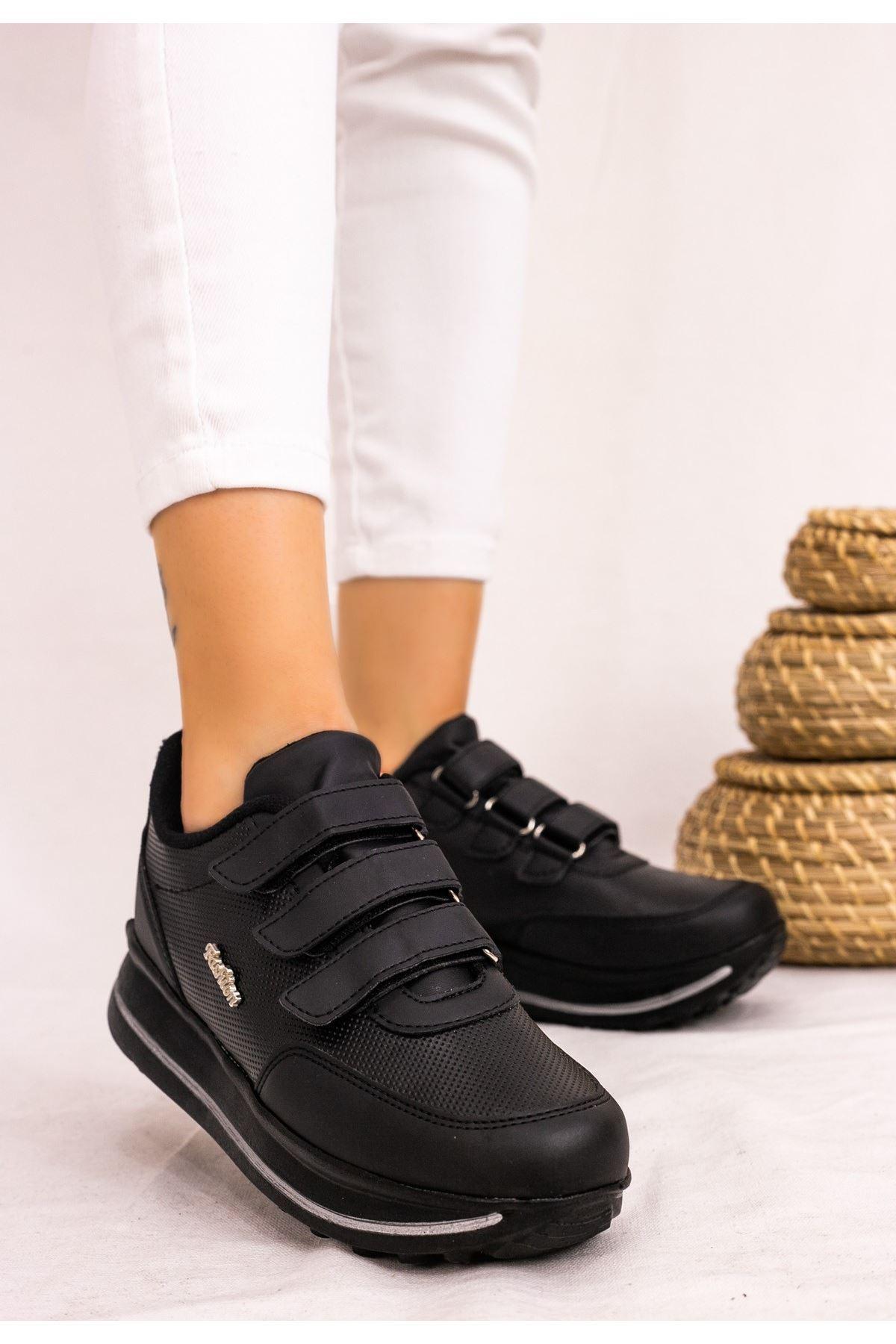 Remi Siyah Cilt Spor Ayakkabı