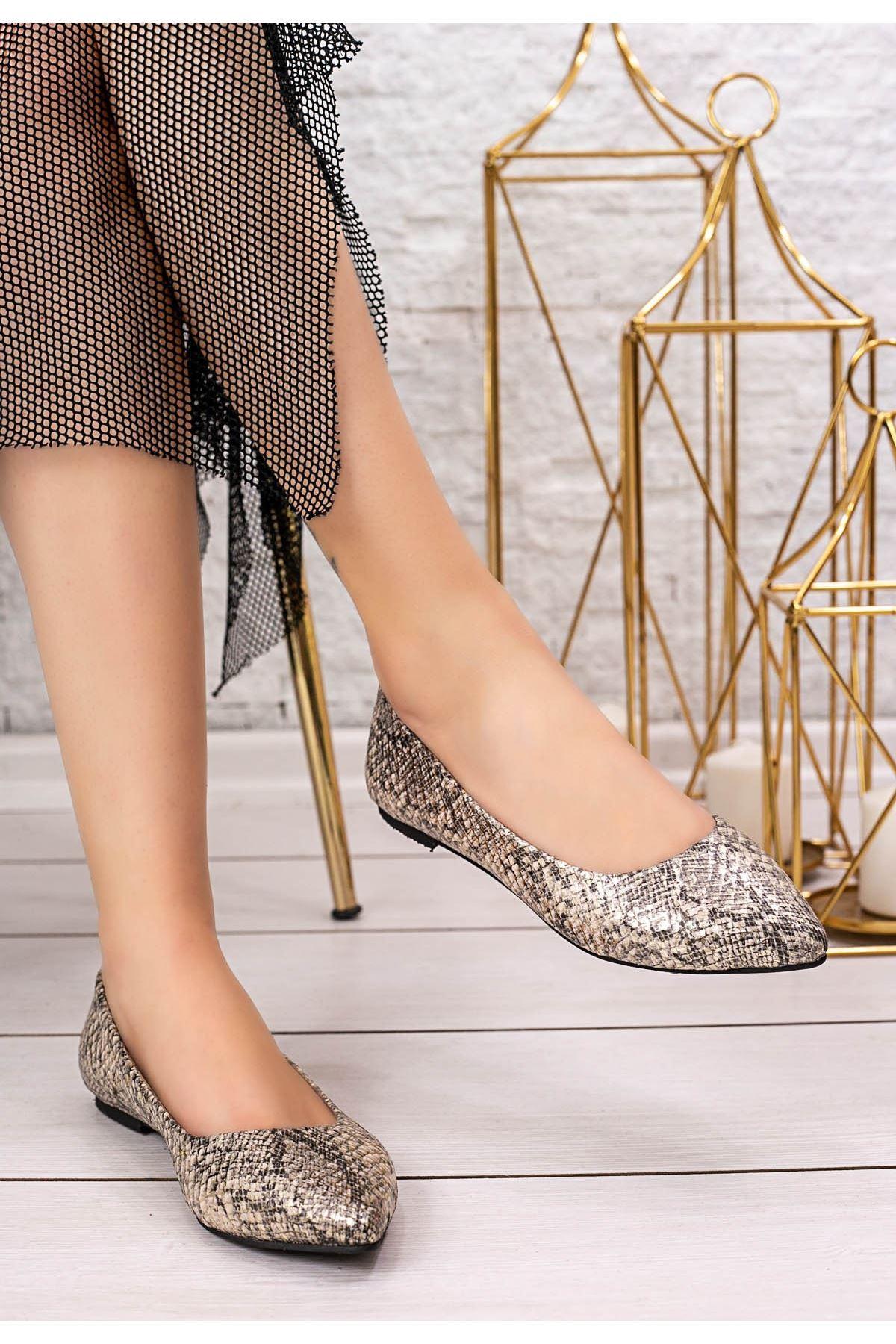 Vidi Yılan Derisi Babet Ayakkabı