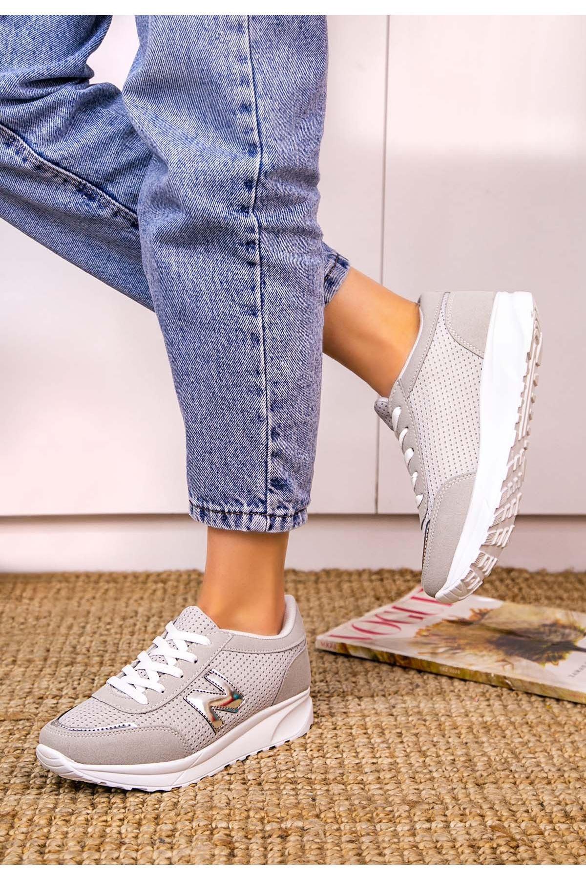 Serc Füme Nubuk Bağcıklı Spor Ayakkabı