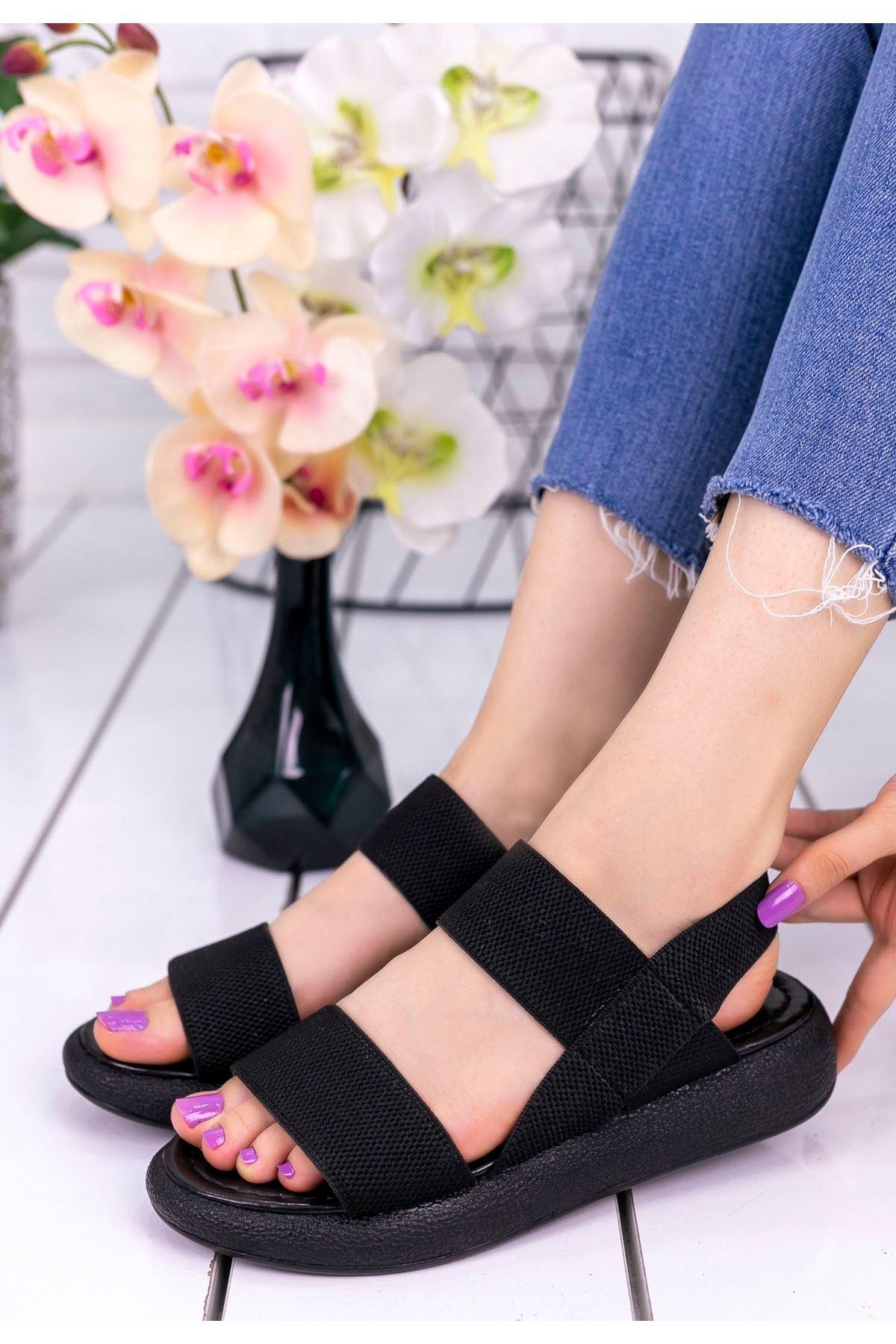 Margine Siyah Sandalet