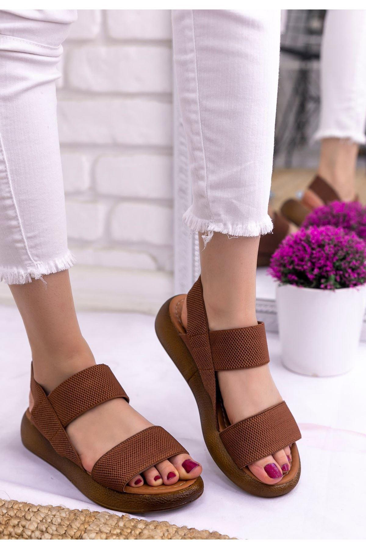 Margine Taba Tabanlı Sandalet