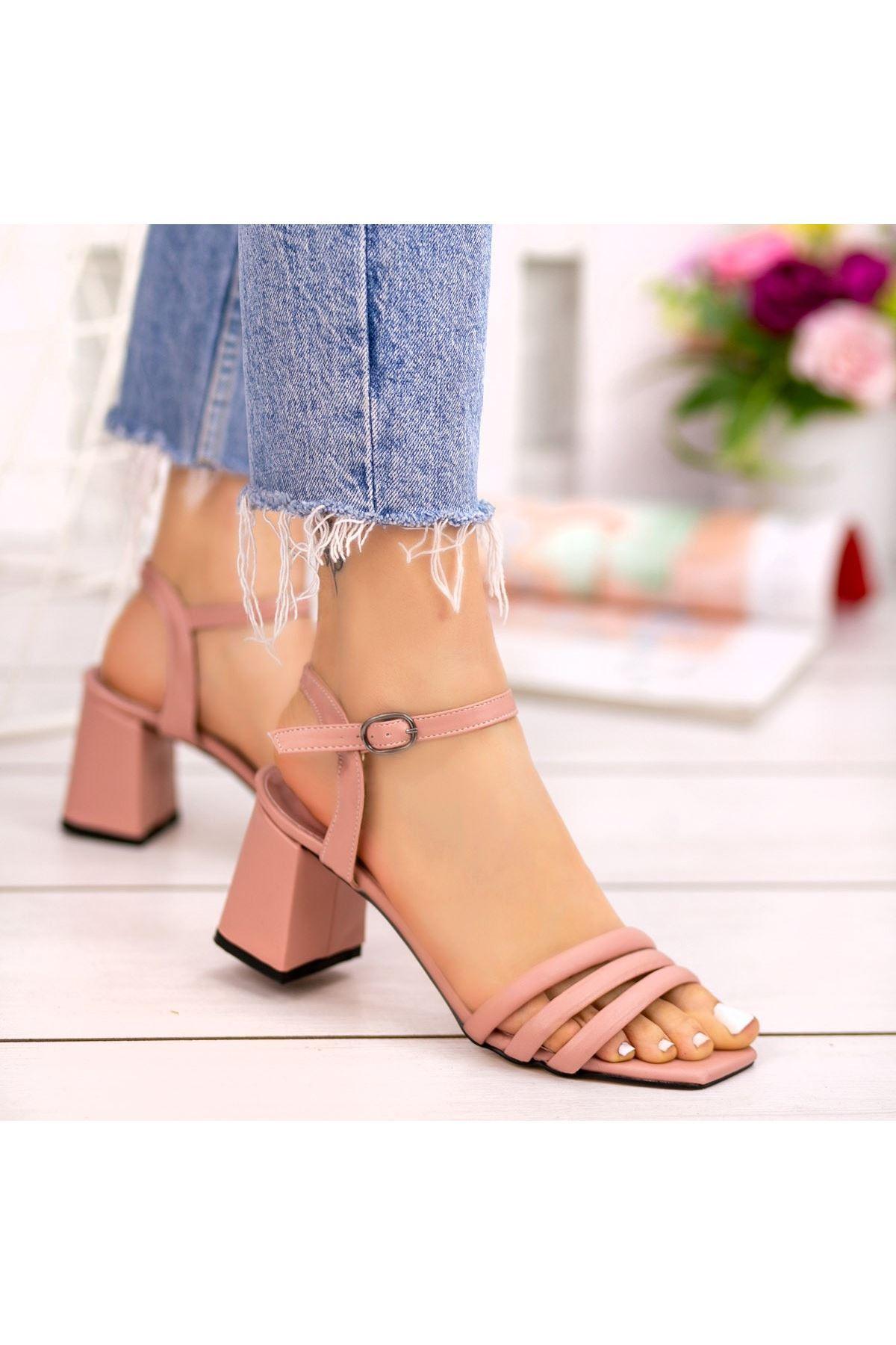 Larix Pudra Cilt Topuklu Ayakkabı