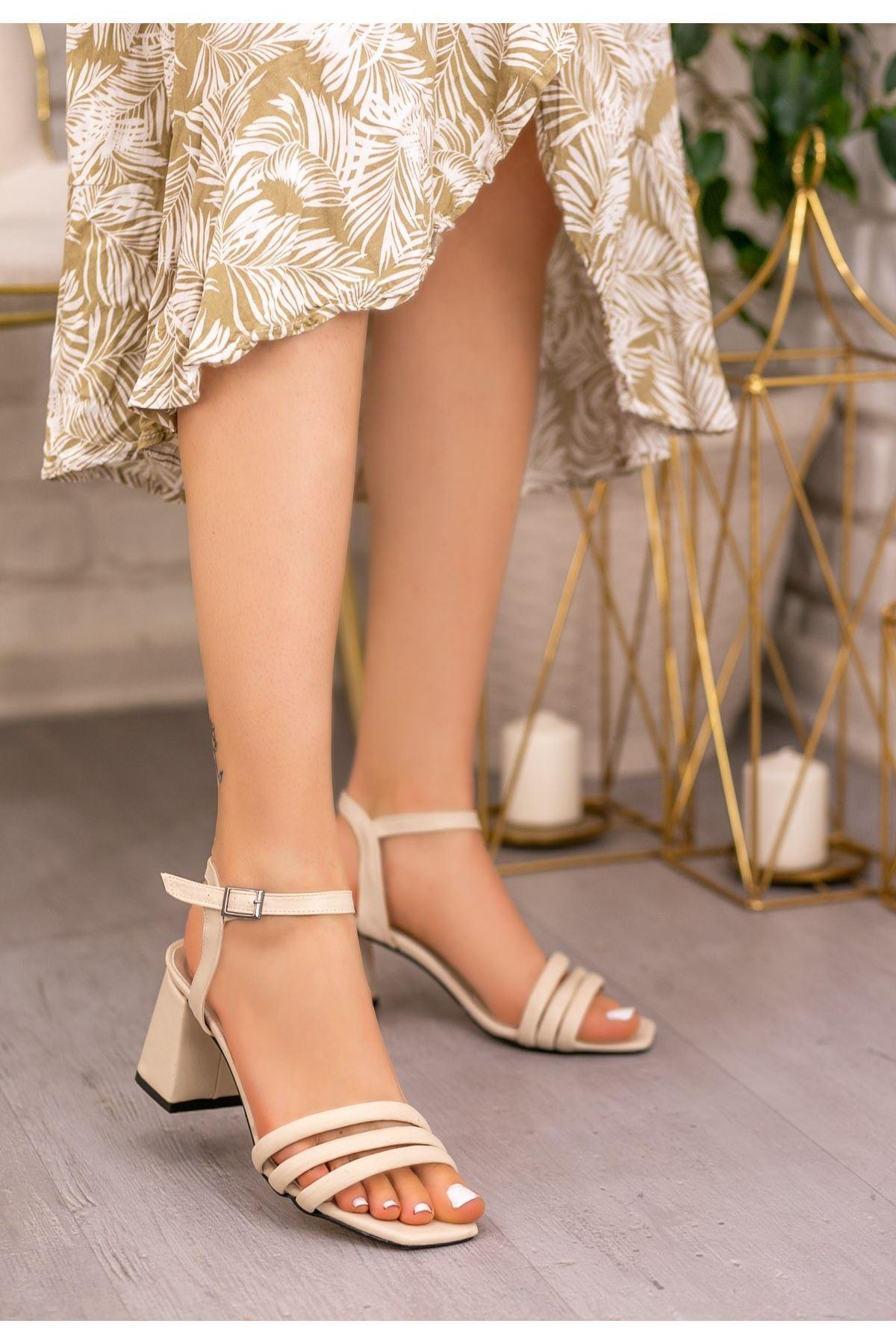 Larix Krem Cilt Topuklu Ayakkabı