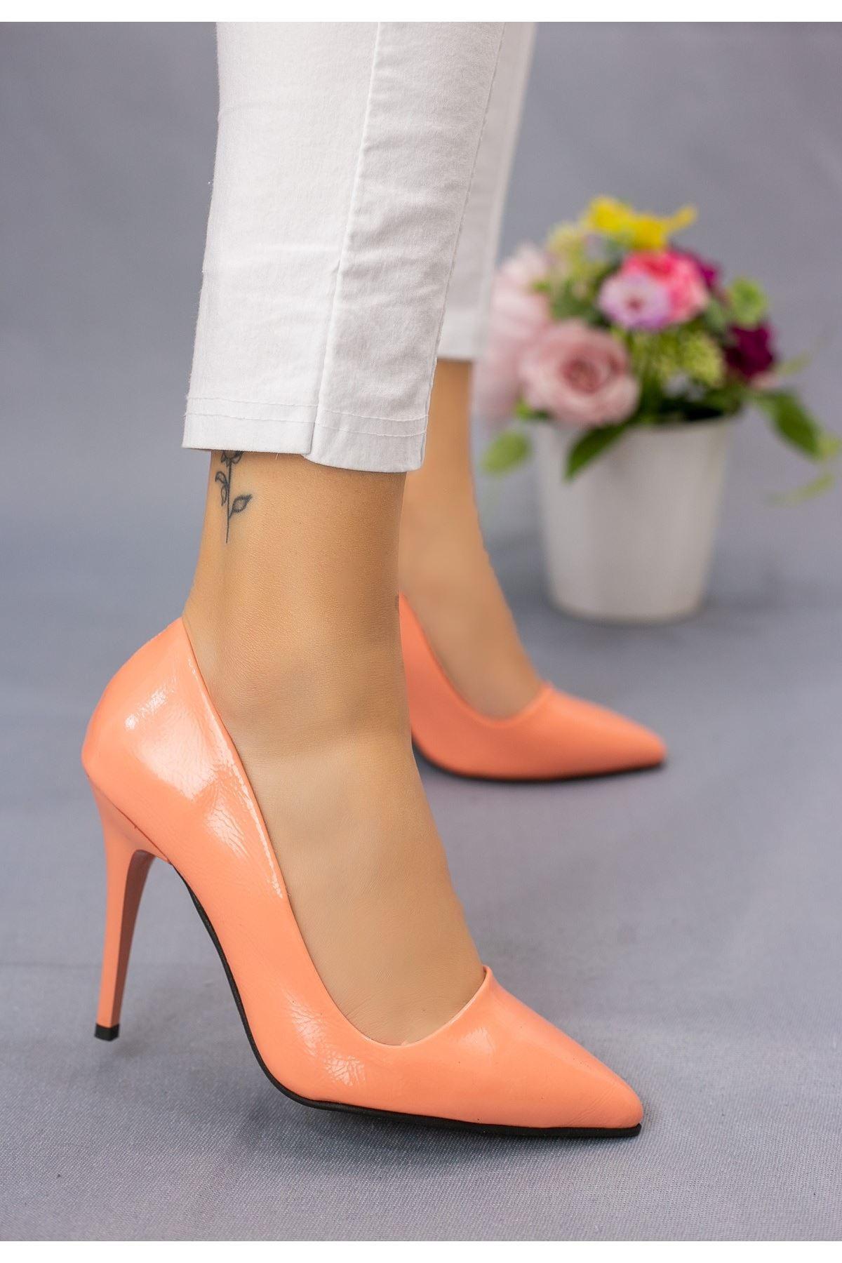 Reme Camel Rugan Stiletto Ayakkabı