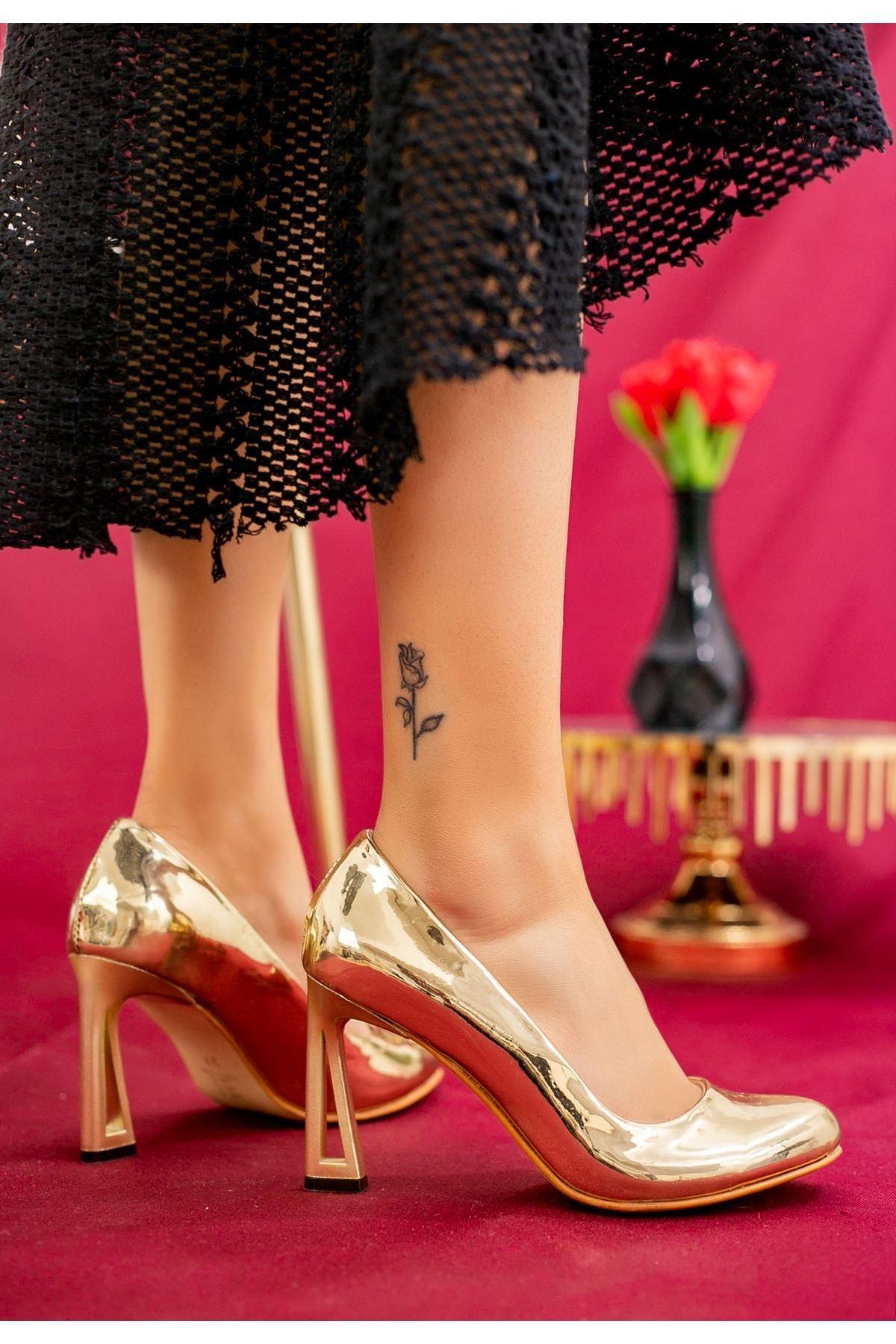 Gree Gold Rugan Topuklu Ayakkabı