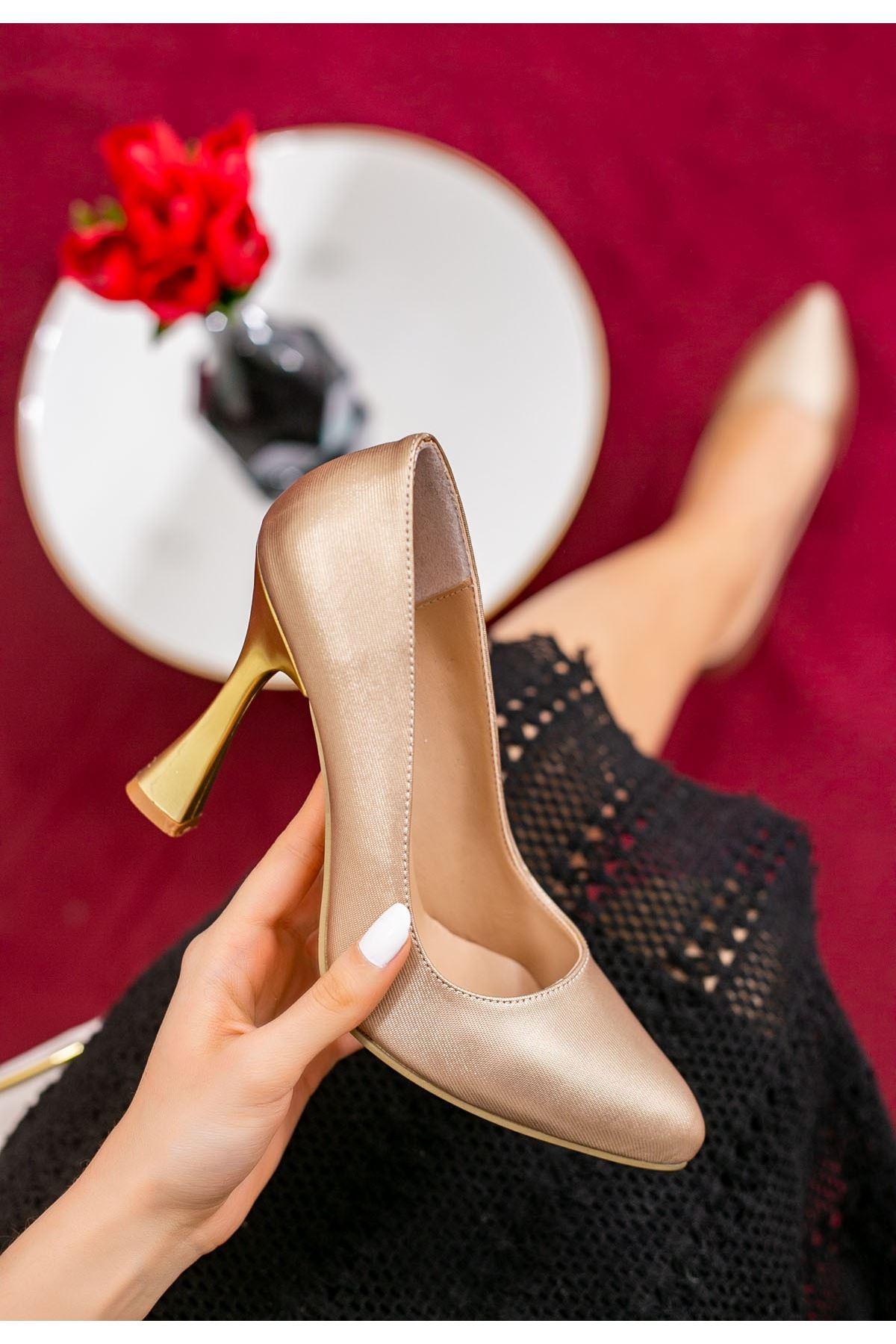 Vıko Bej Cilt Topuklu Ayakkabı
