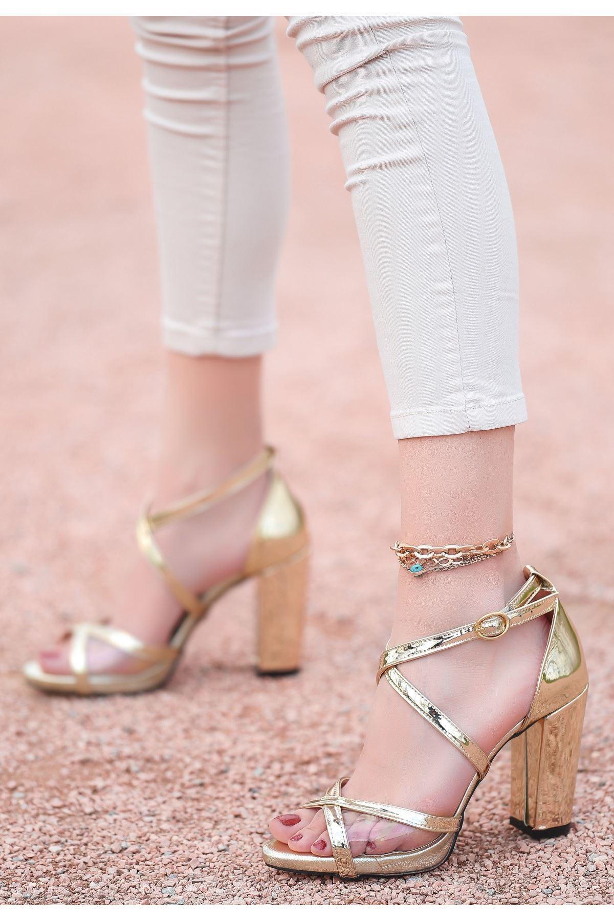 Gend Gold Rugan Topuklu Ayakkabı