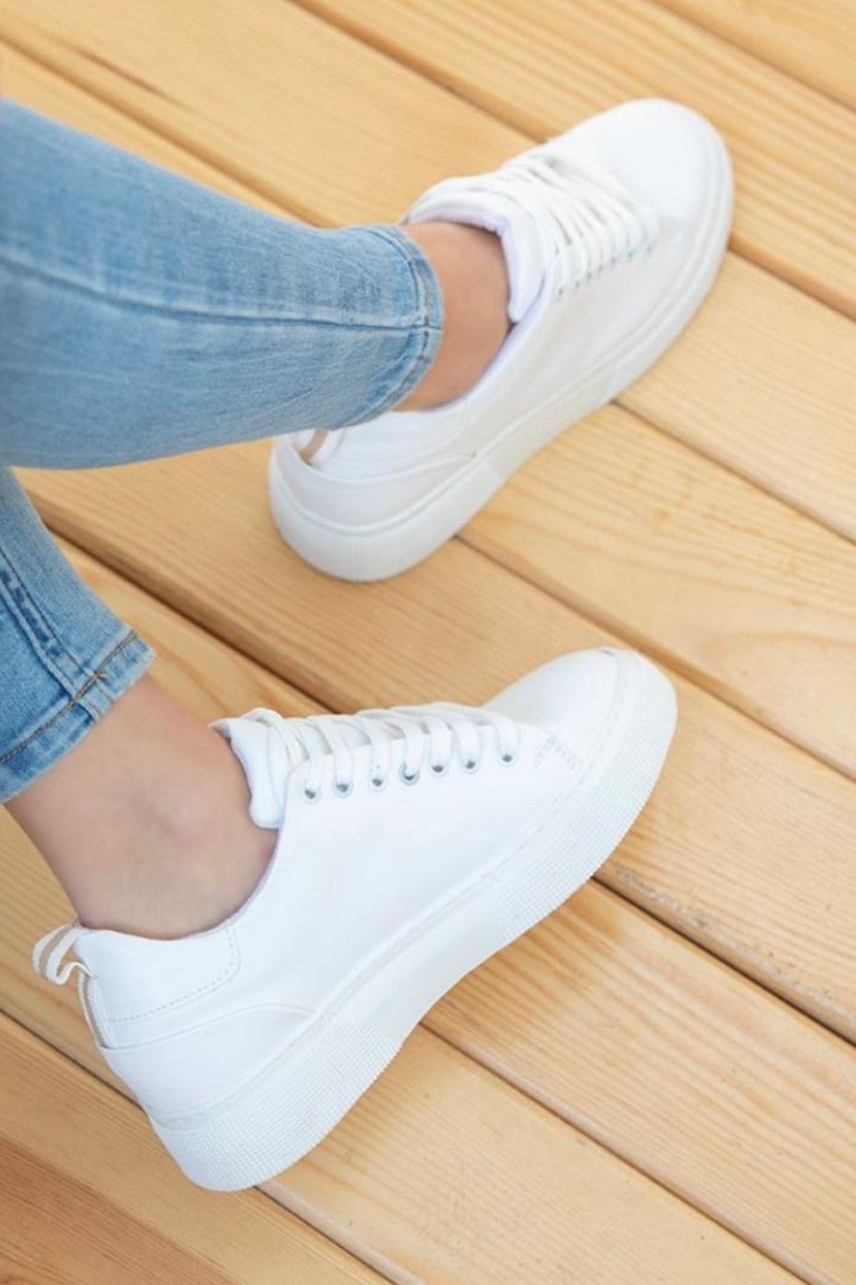 Fengi Beyaz Cilt Sneaker