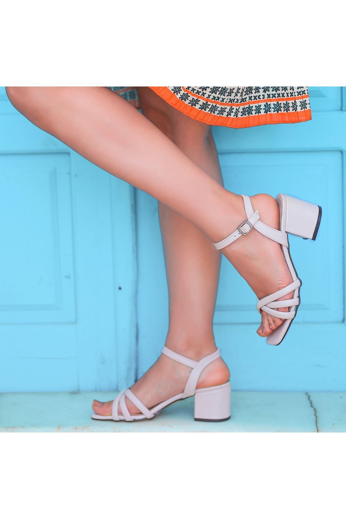 Ciani Ten Cilt Topuklu Ayakkabı