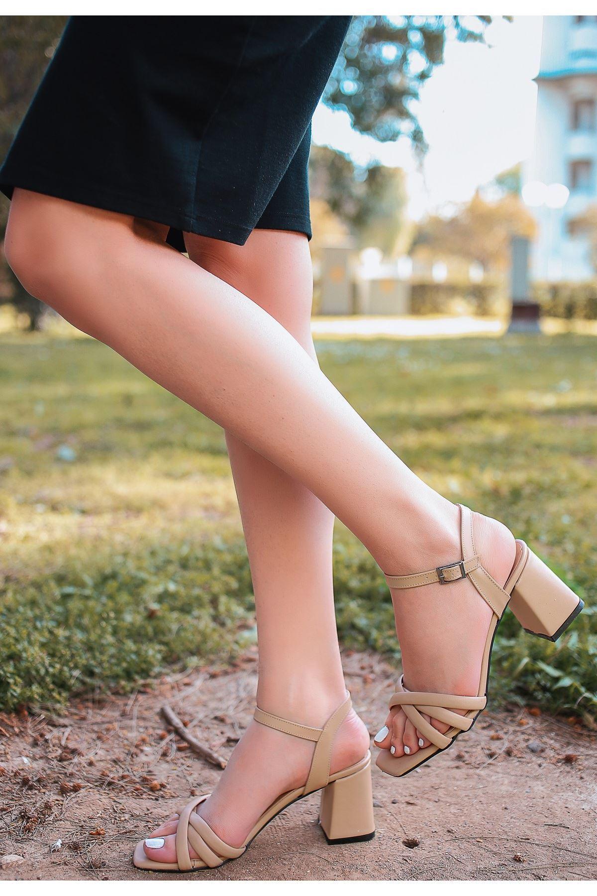 Ciani Vizon Cilt Topuklu Ayakkabı