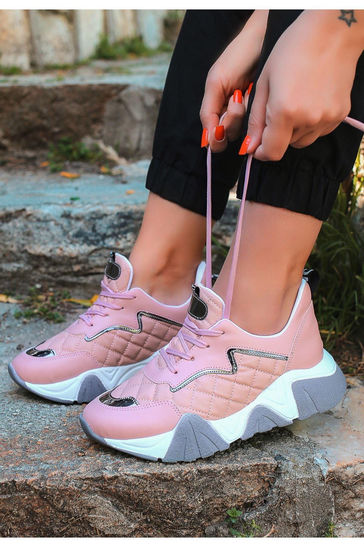 Renz Pudra Cilt Bağcıklı Spor Ayakkabı