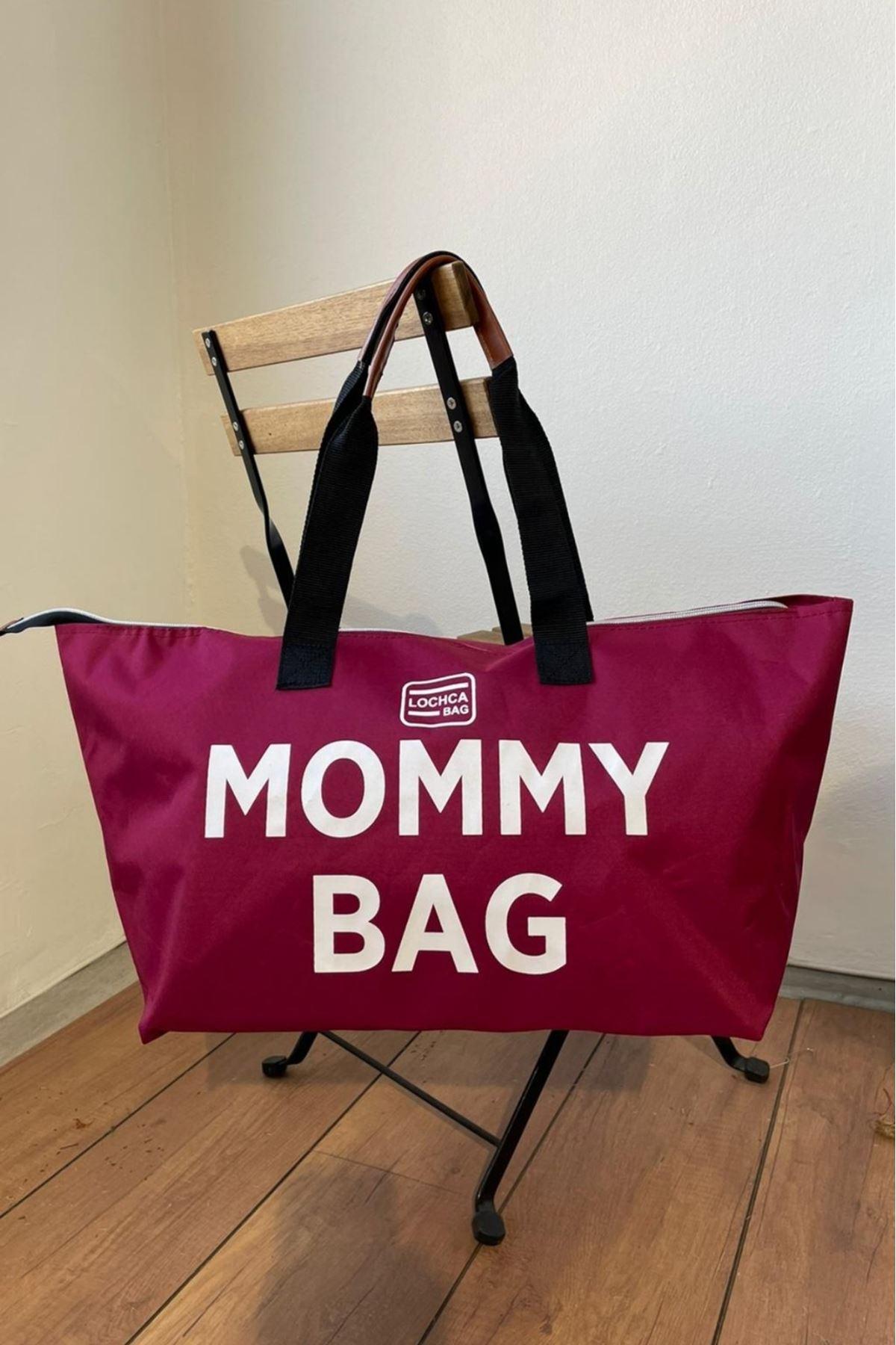 Mommy Bordo İmperteks Seyahat Boy Çanta