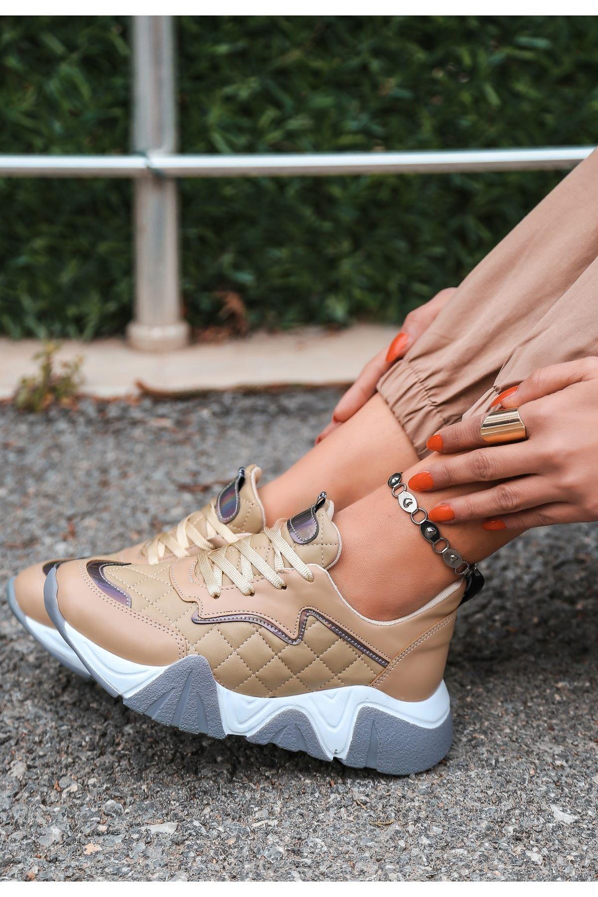 Renz Vizon Cilt Gri Tabanlı Spor Ayakkabı