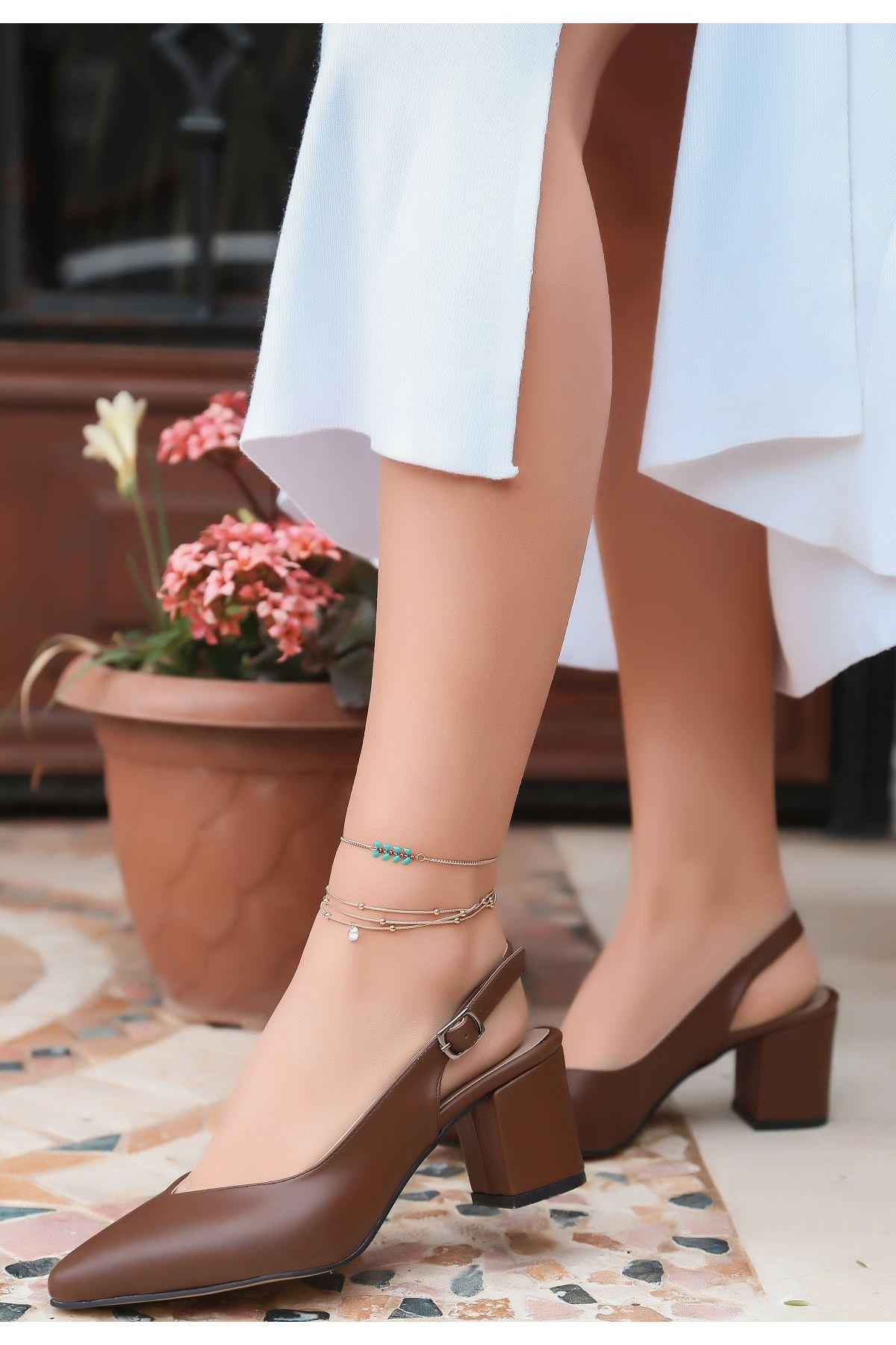Ziko Taba Cilt Topuklu Ayakkabı